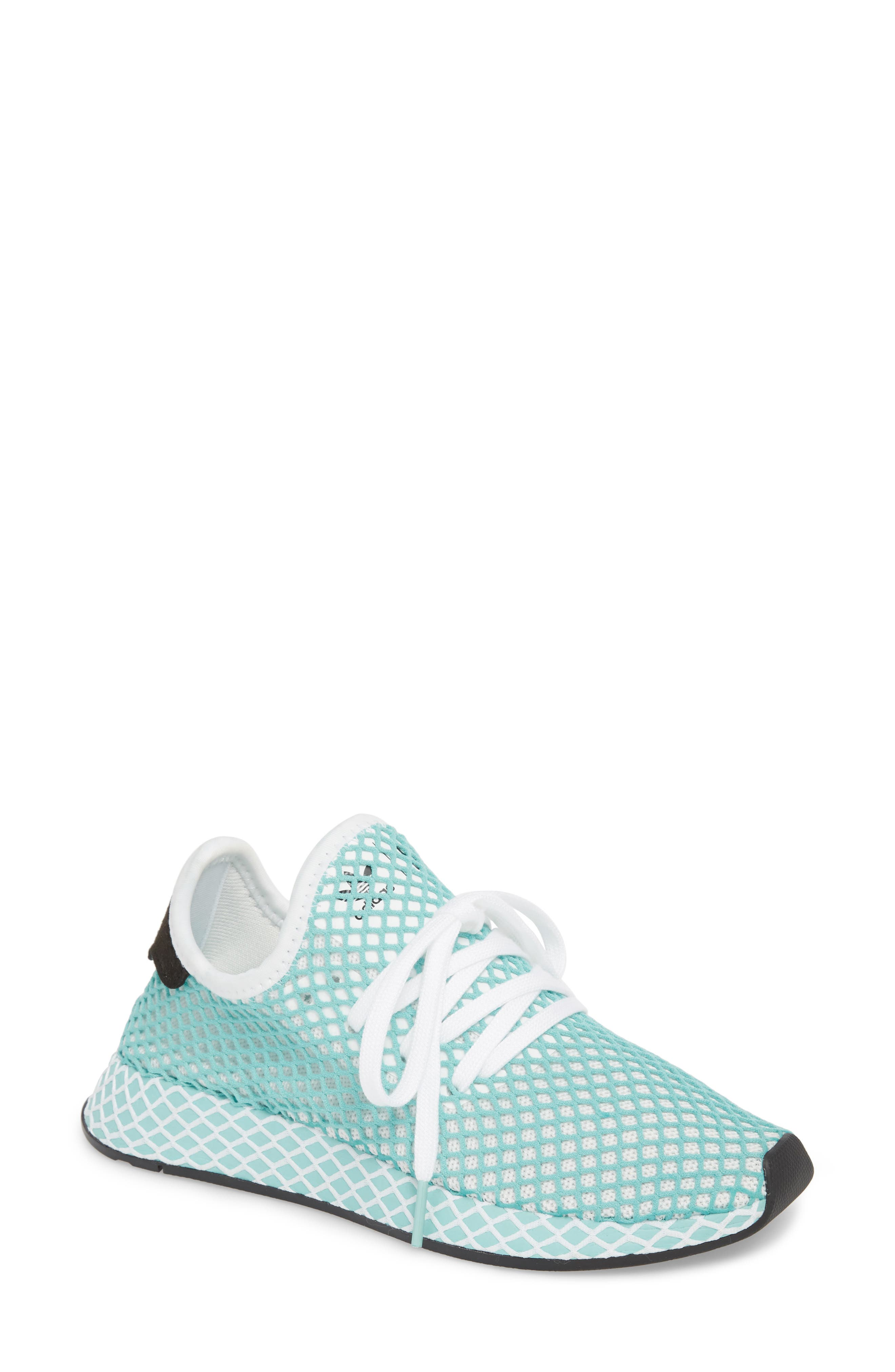 Deerupt x Parley Runner Sneaker,                             Main thumbnail 1, color,                             White/ White/ Blue Spirit