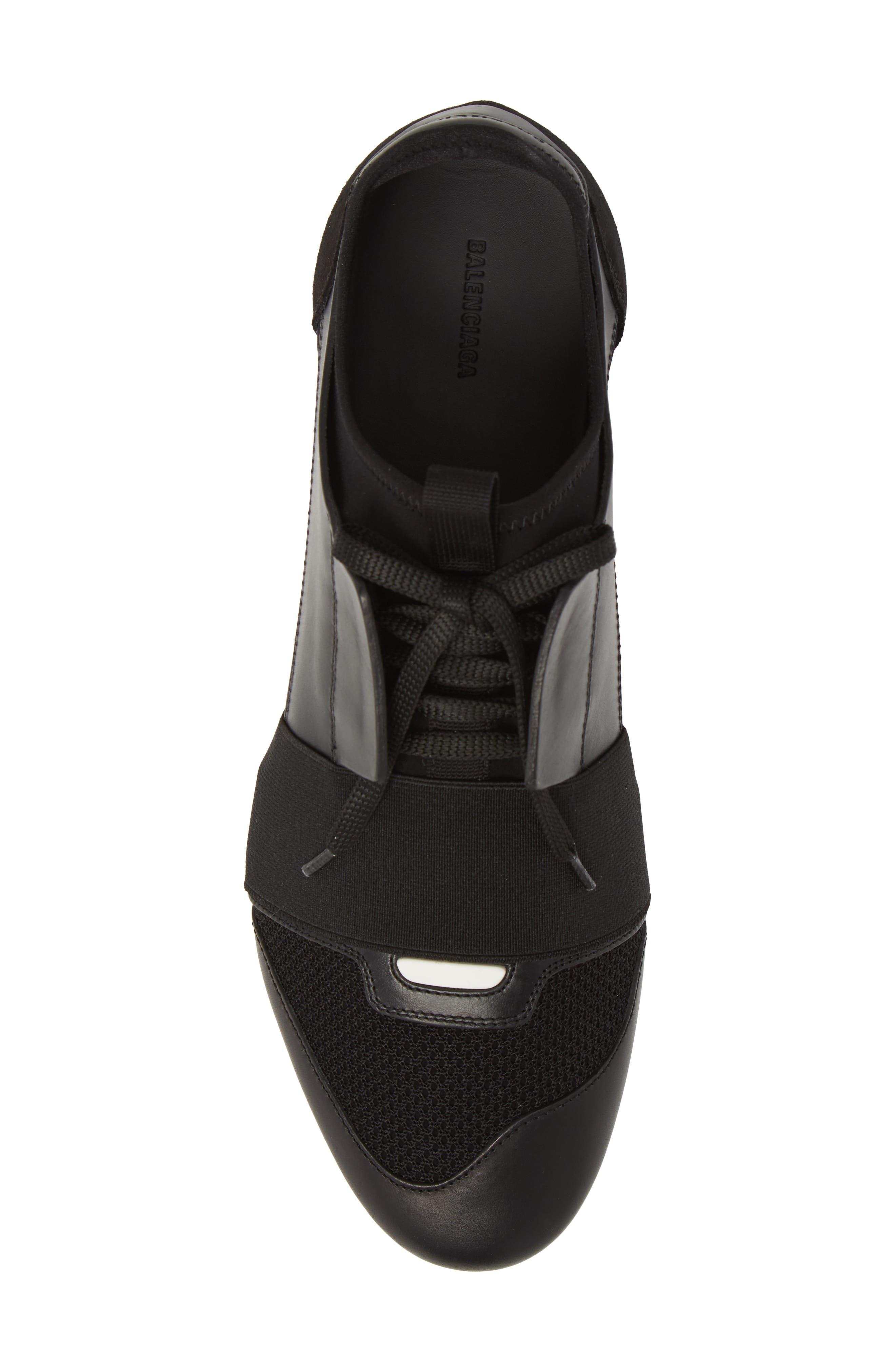 Race Runner Sneaker,                             Alternate thumbnail 5, color,                             Noir/ Black
