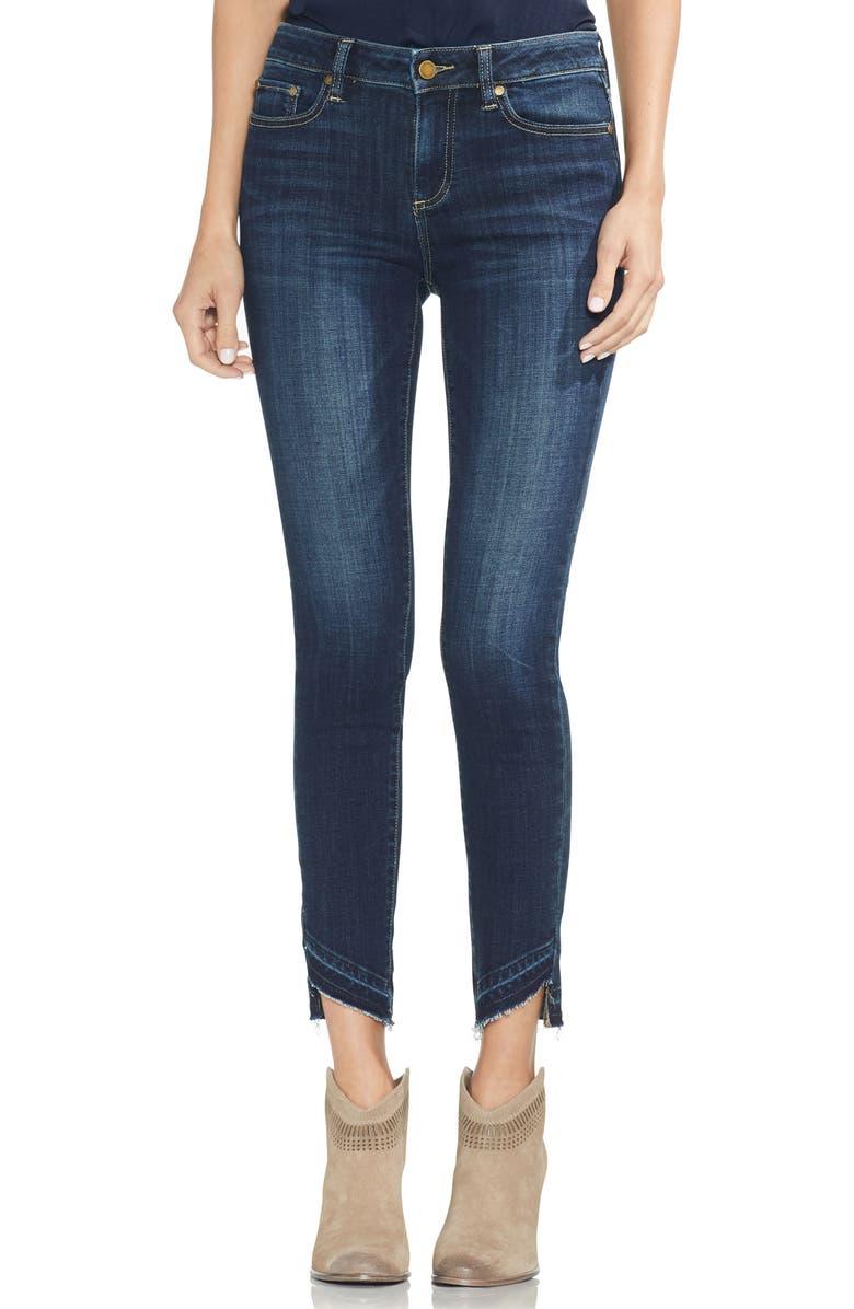 Indigo Curve Hem Skinny Jeans