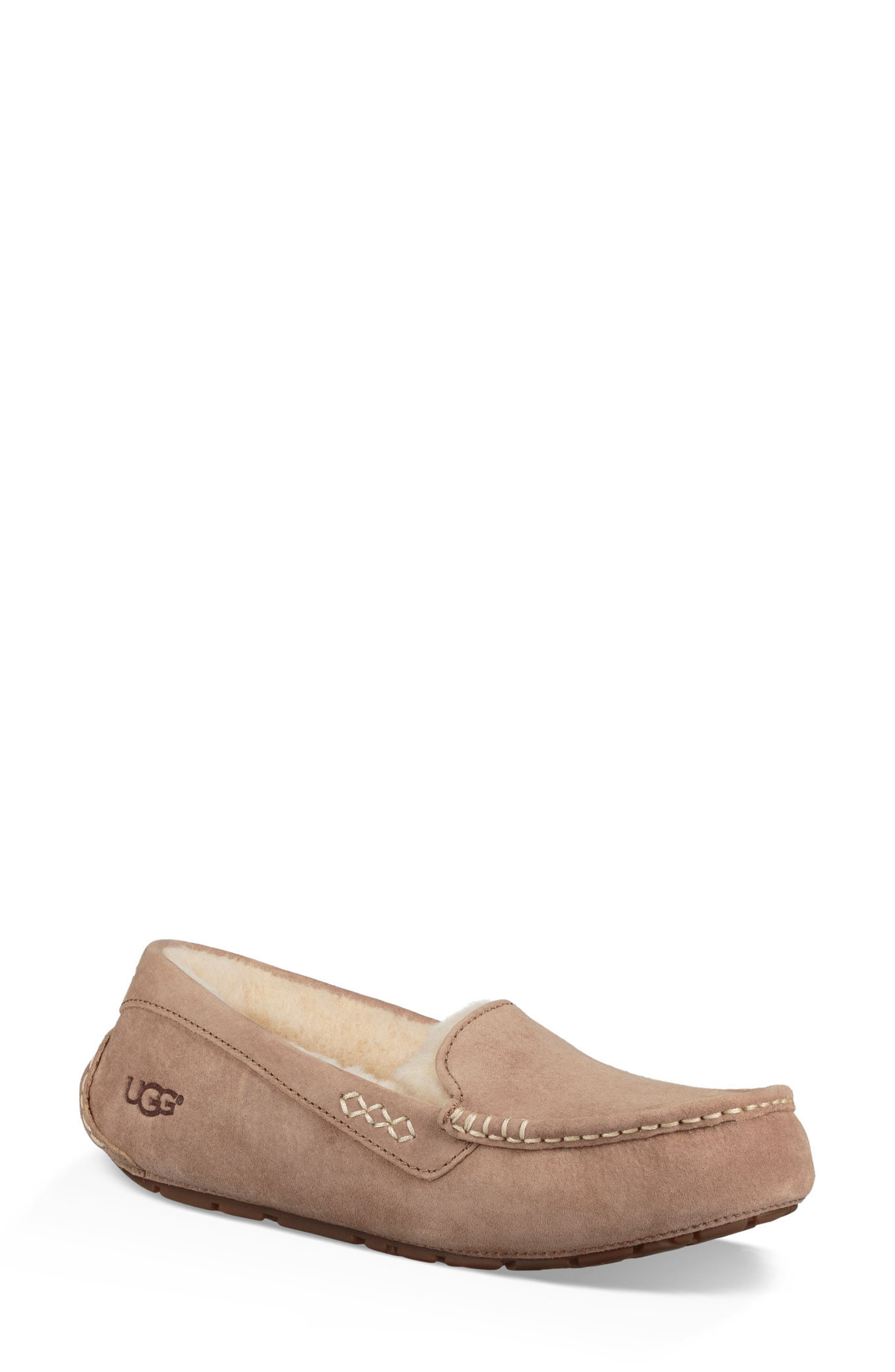 Ansley Water Resistant Slipper,                         Main,                         color, Fawn Leather