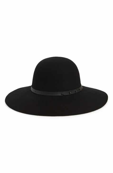 Halogen® Refined Wide Brim Wool Floppy Hat ef6d5ba7cb1