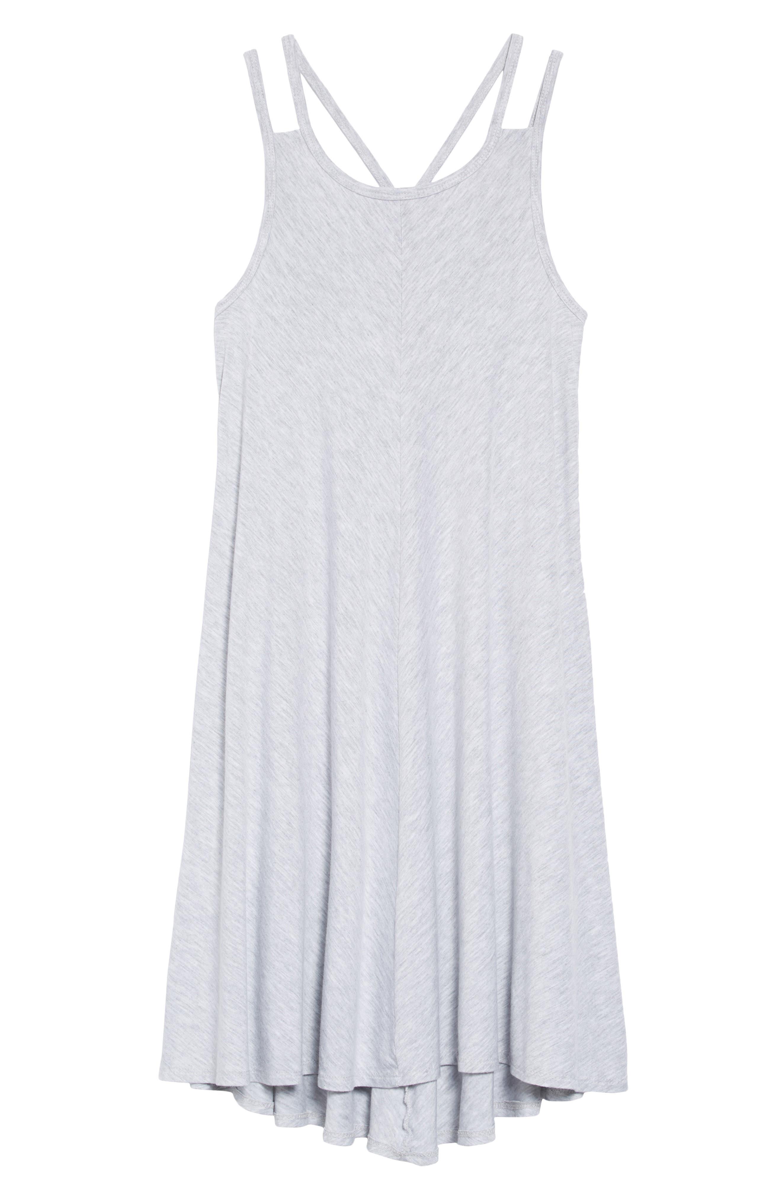 Strappy Dress,                             Main thumbnail 1, color,                             Grey Ash Heather