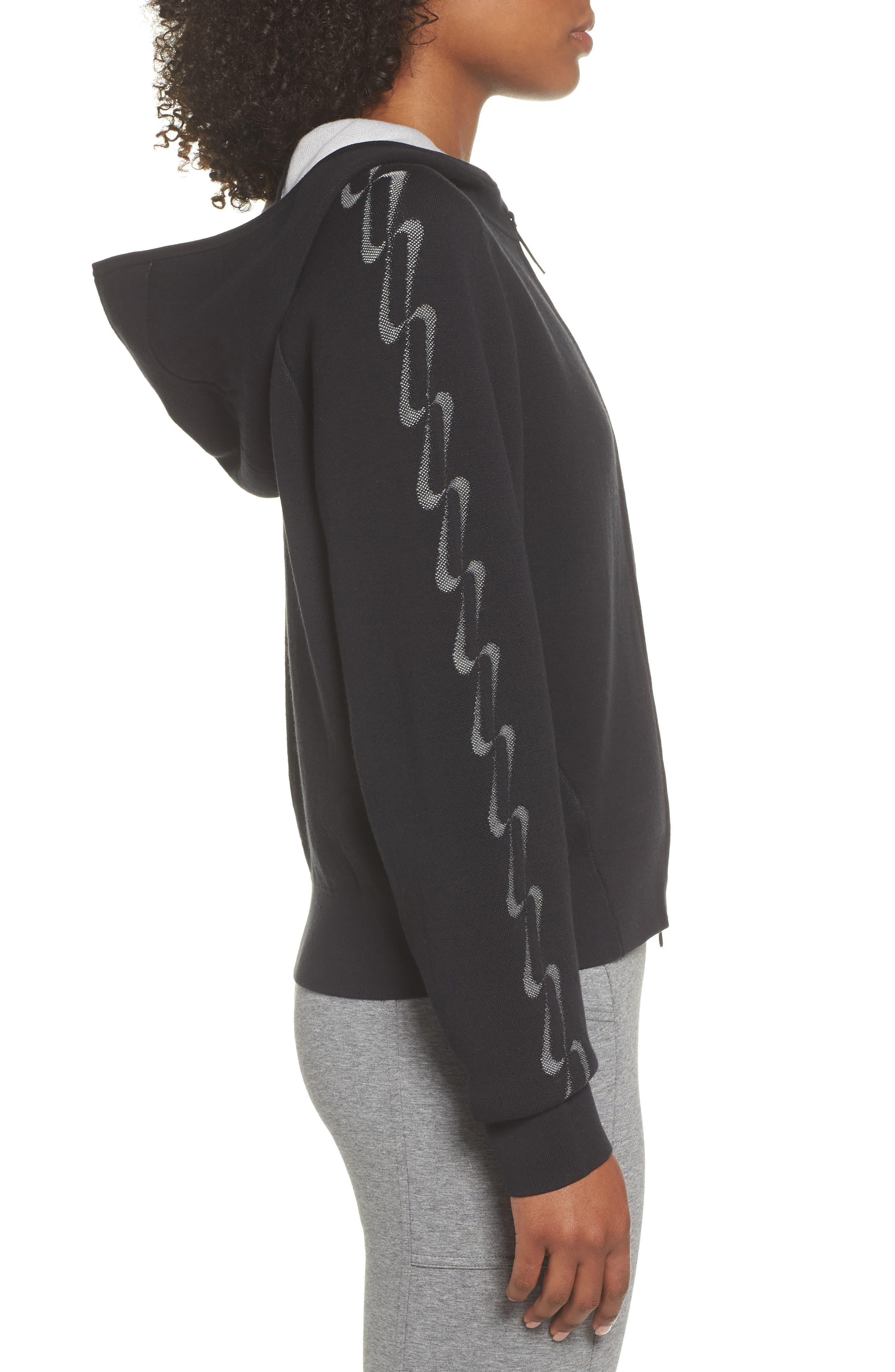 NRG Women's Knit Jacket,                             Alternate thumbnail 3, color,                             Black/ Vast Grey