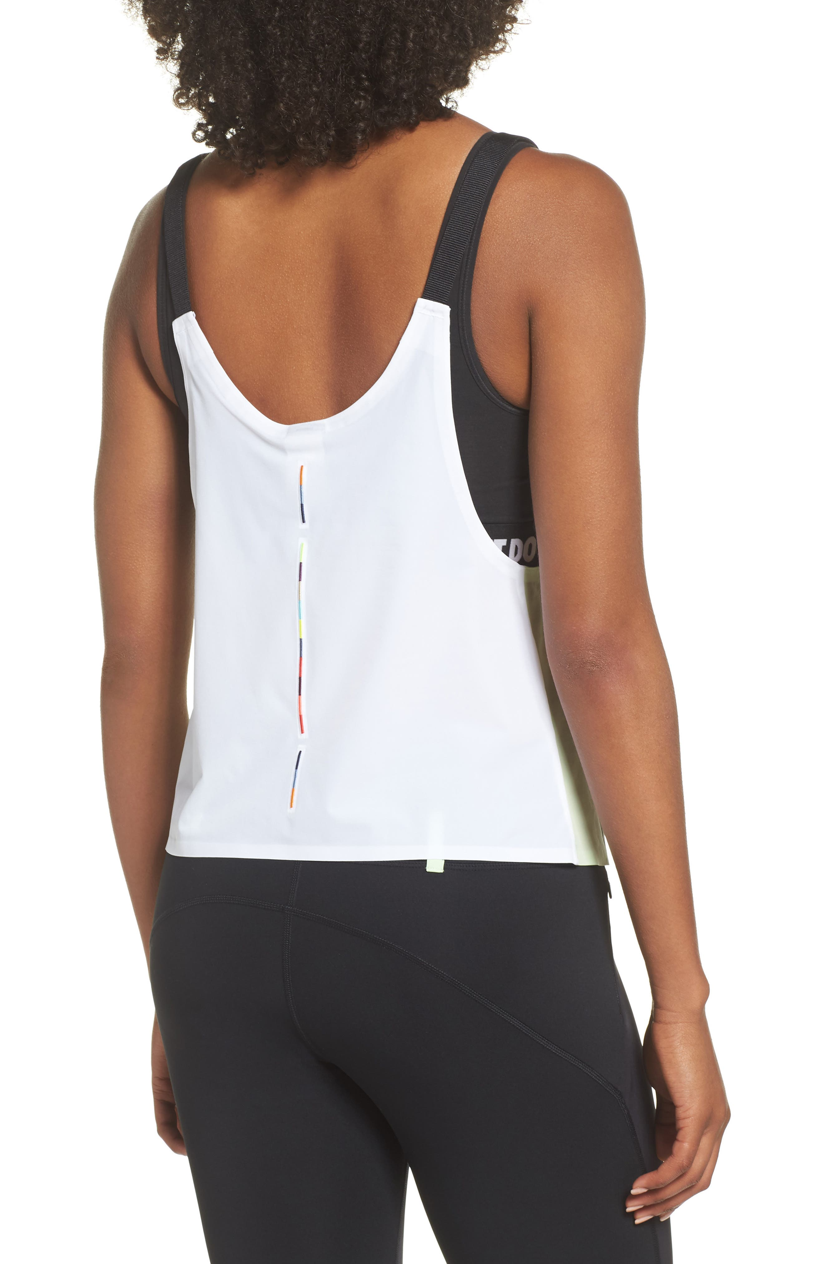 NRG Women's Colorblock Tank,                             Alternate thumbnail 2, color,                             Vast Grey/ White/ Vapor Green