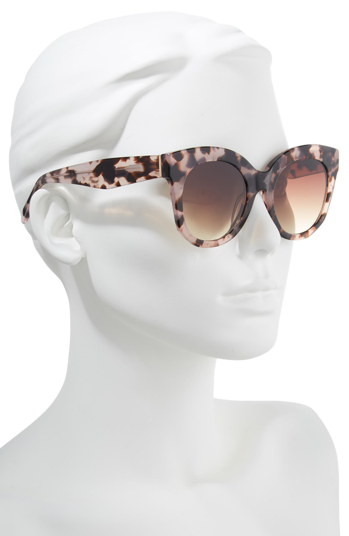 Gillian 52mm Sunglasses,                             Alternate thumbnail 3, color,                             Pink Tortoise
