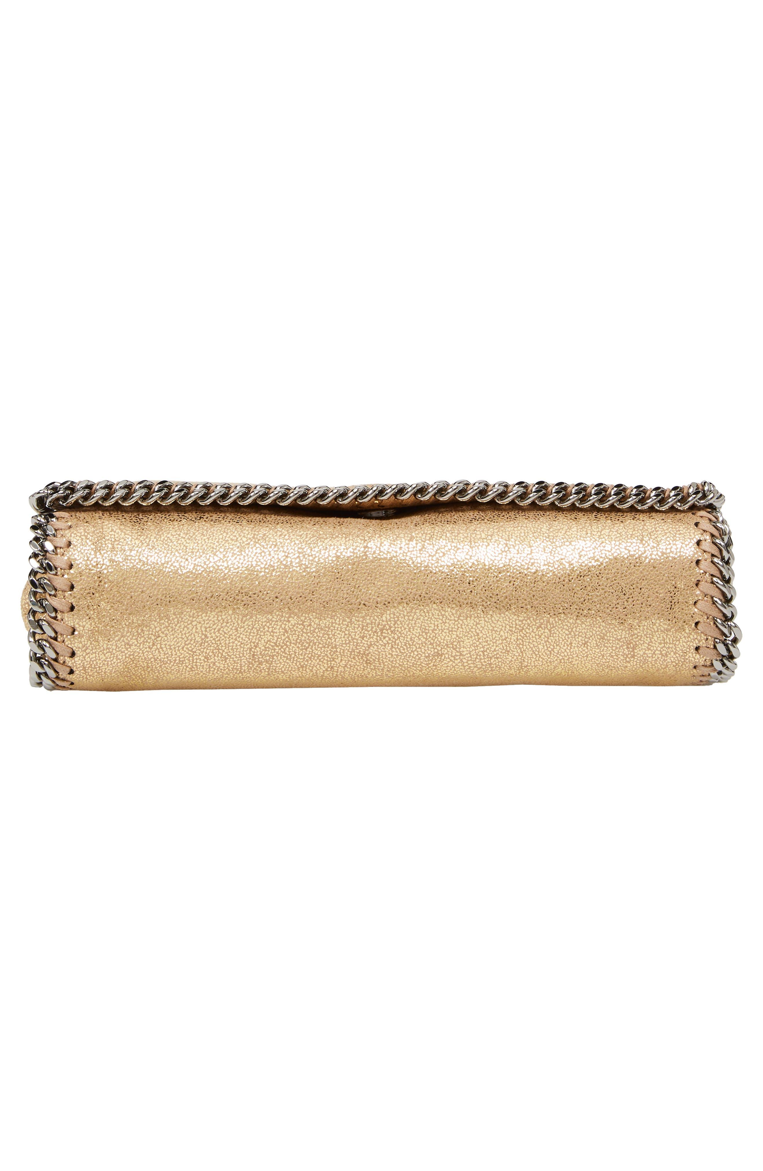 'Falabella' Crossbody Bag,                             Alternate thumbnail 4, color,                             Gold