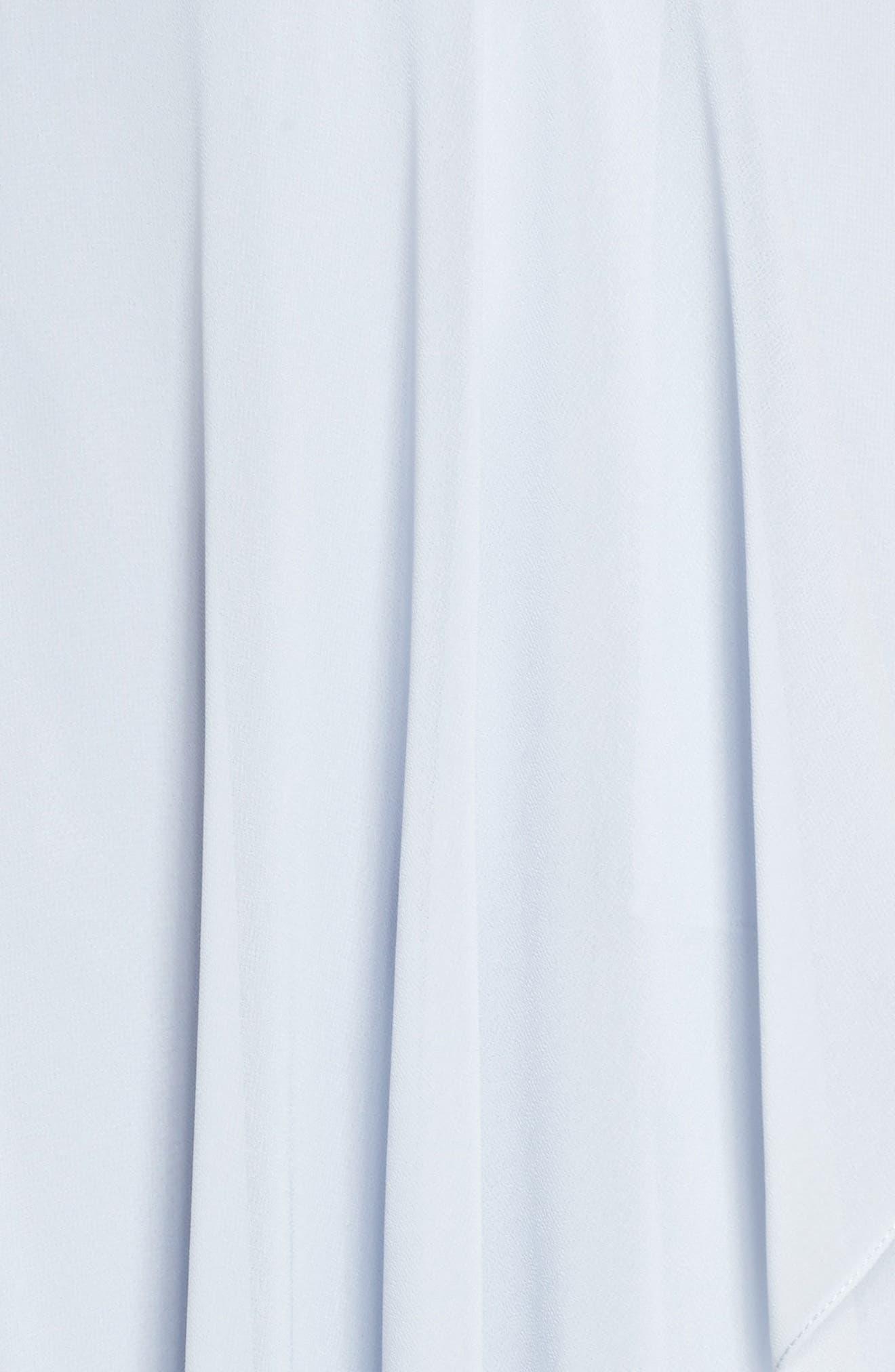 Farrah Ruffle Skirt Chiffon Gown,                             Alternate thumbnail 6, color,                             Whisper Blue