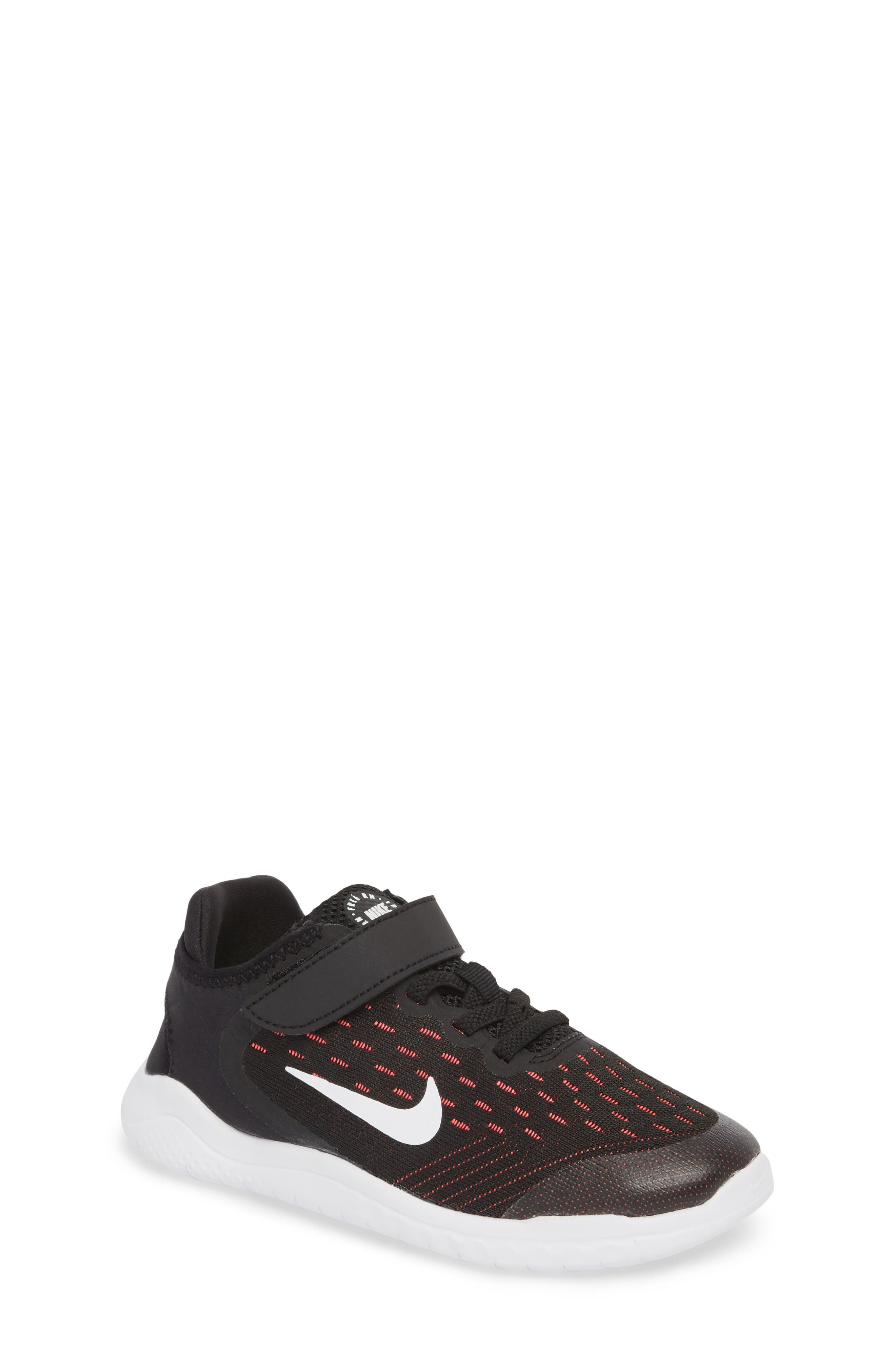 Free RN Running Shoe,                         Main,                         color, Black/ White/ Pink/ Volt