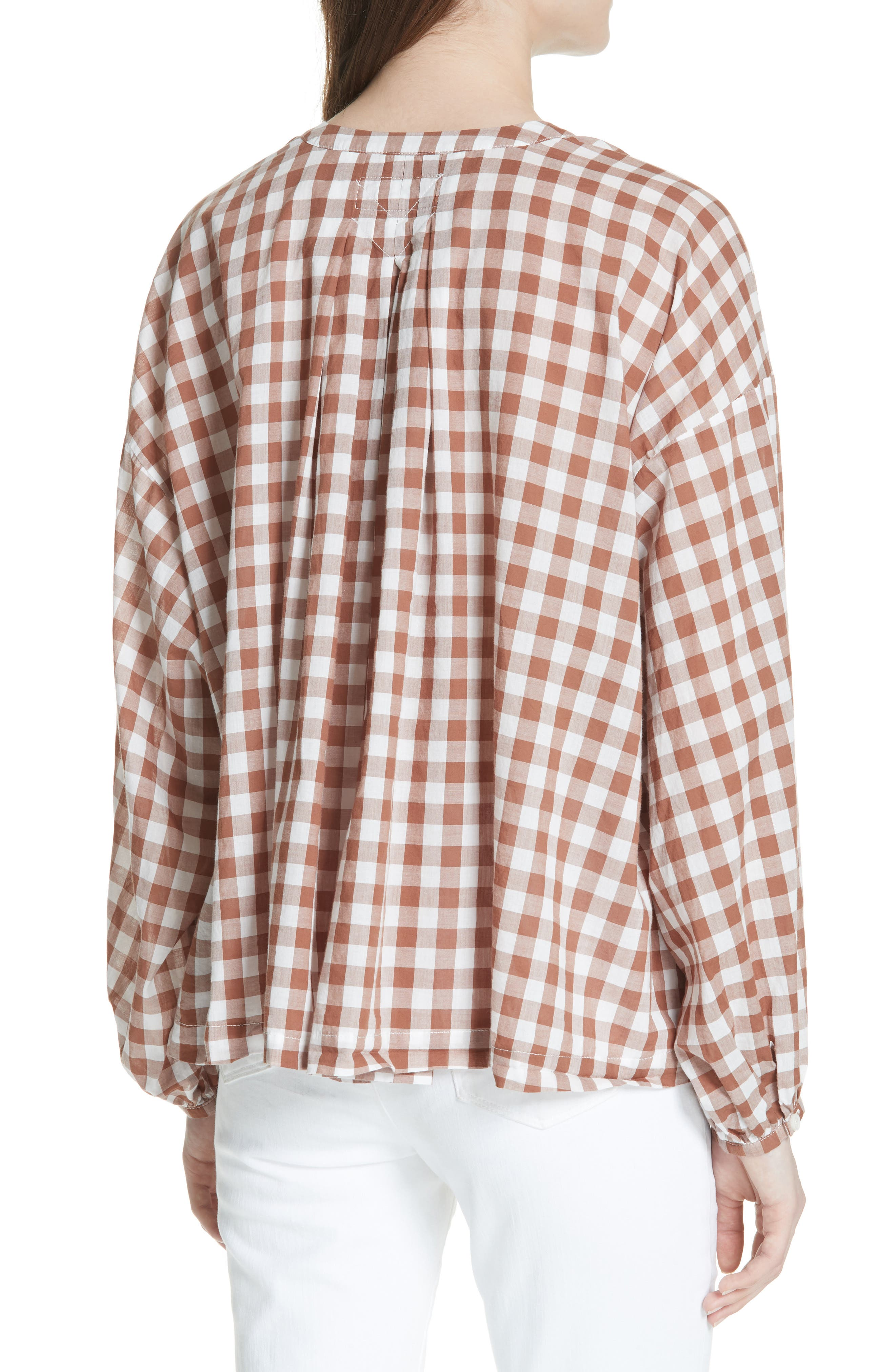 The Handsome Button-Up Shirt,                             Alternate thumbnail 2, color,                             Carob Check