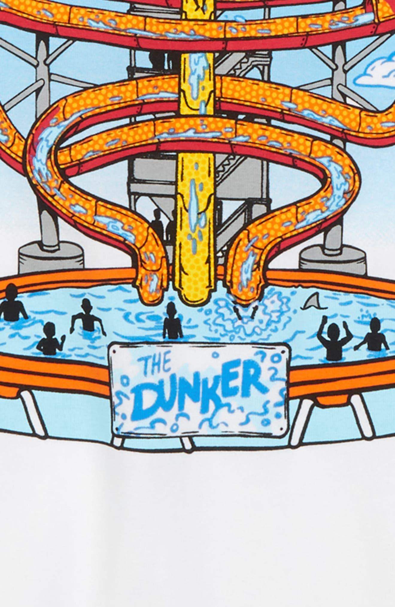 Water Park Graphic T-Shirt,                             Alternate thumbnail 2, color,                             White/ Canoe Blue