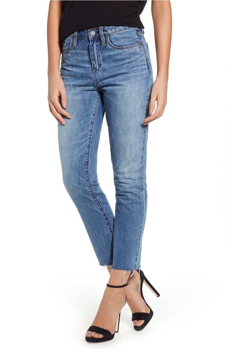 The Madison Straight Leg Crop Jeans,                         Main,                         color, Friend Zoned Med Wash