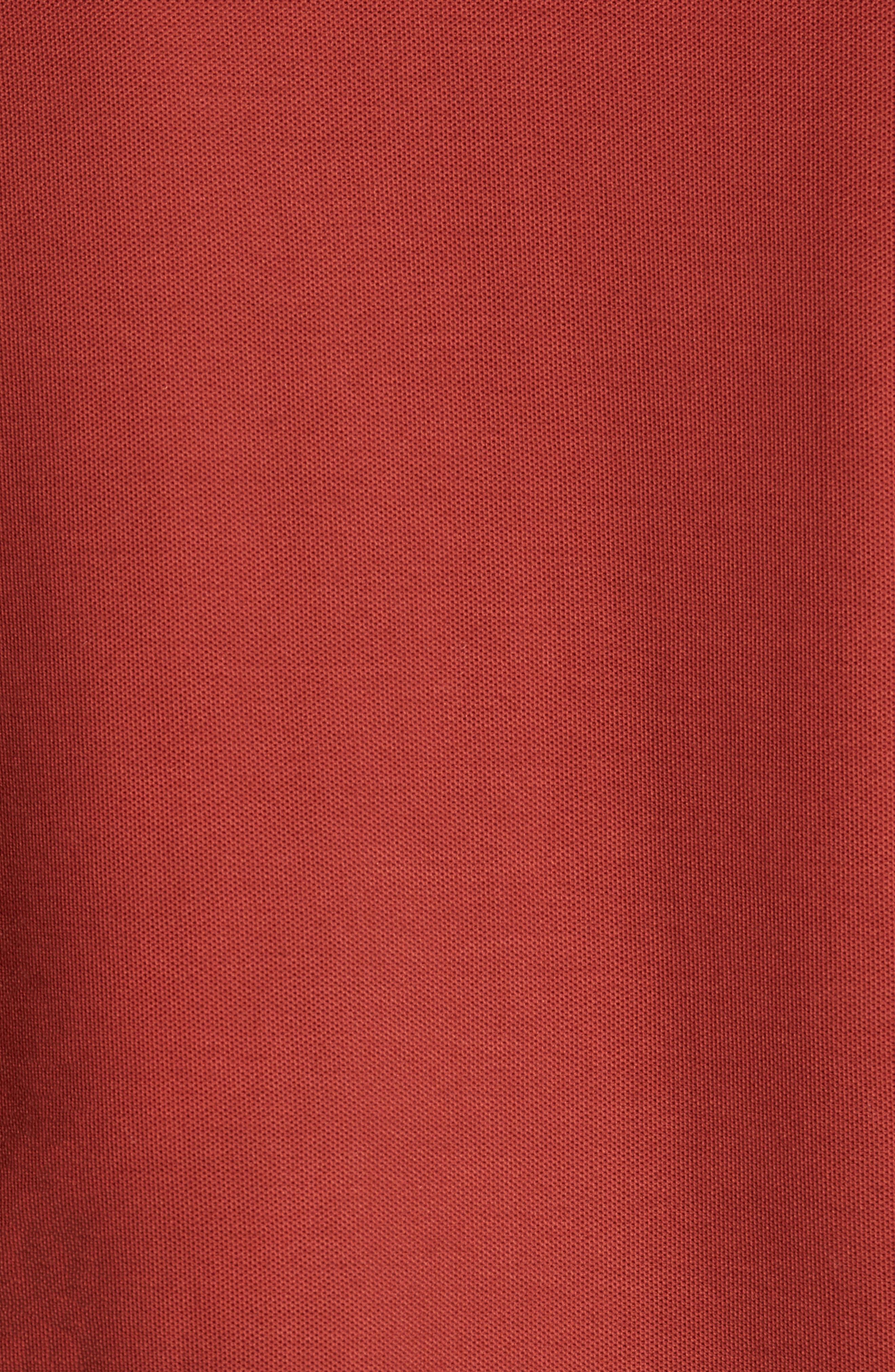 Piqué Polo,                             Alternate thumbnail 3, color,                             Red Fire
