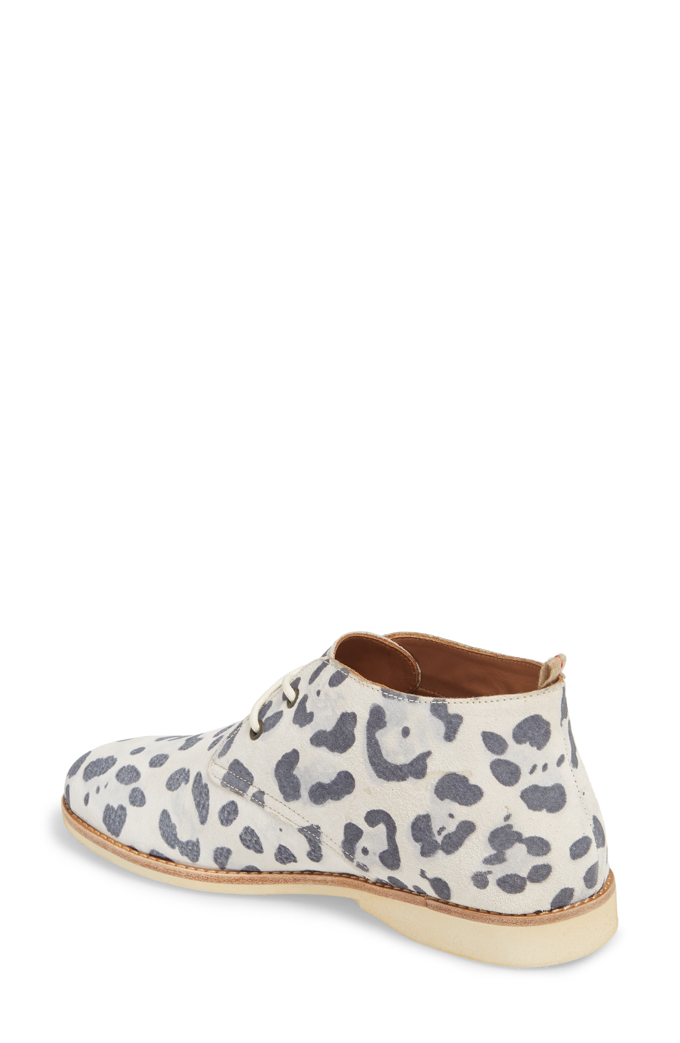 Chukka Bootie,                             Alternate thumbnail 2, color,                             Grey Leopard Suede
