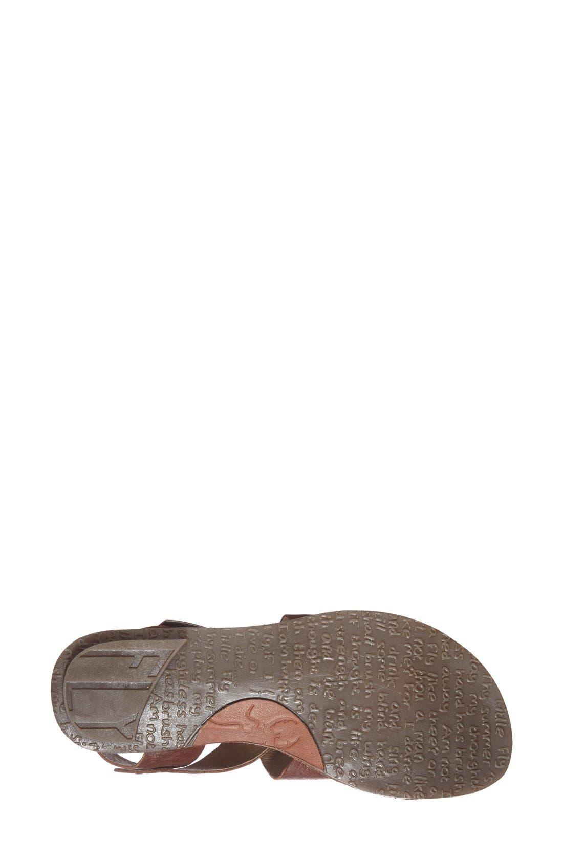 Alternate Image 4  - Fly London 'Bian' Flat Leather Sandal (Women)