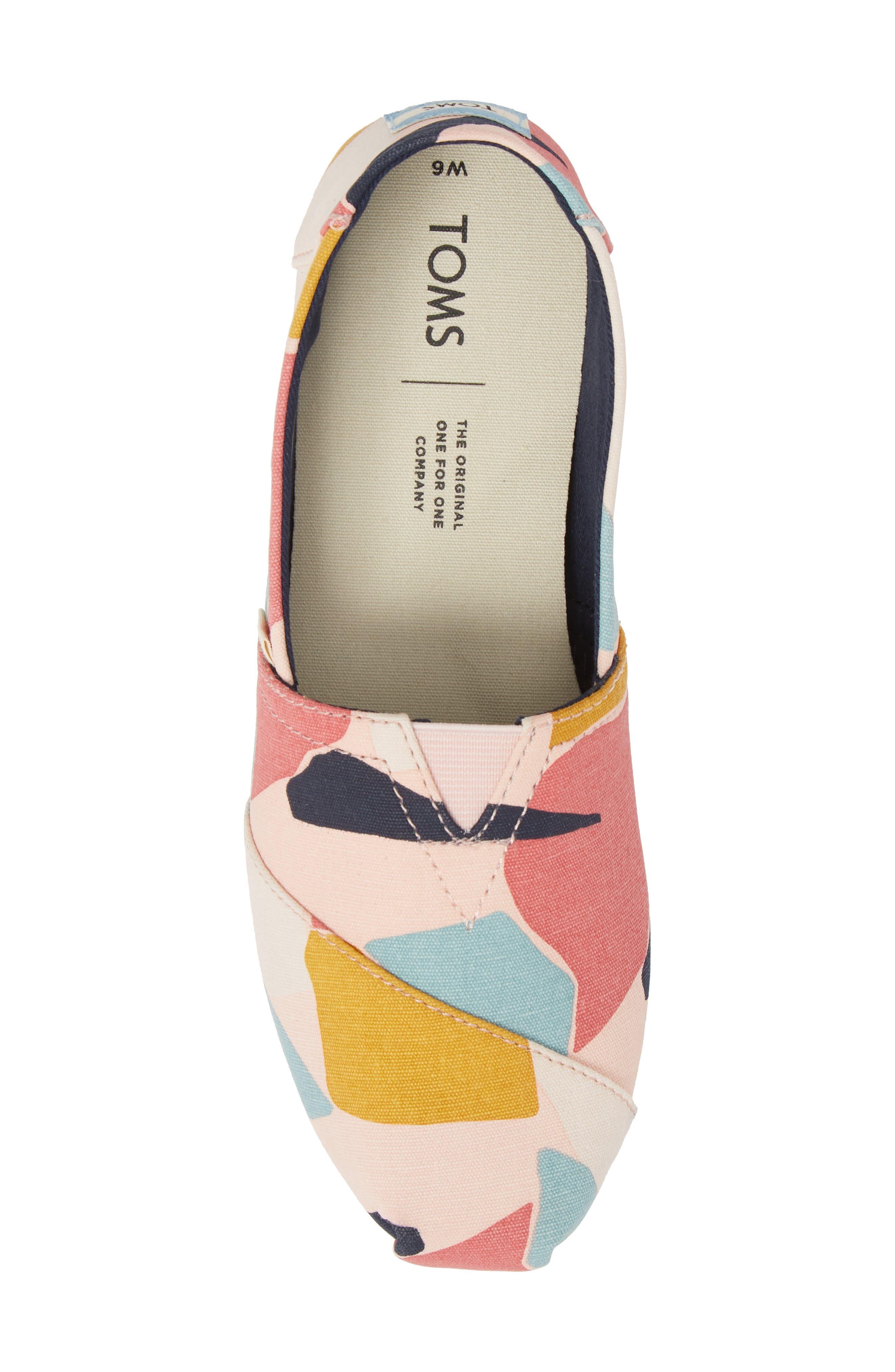 Alpargata Slip-On Sneaker,                             Alternate thumbnail 5, color,                             Rose Glow Print Canvas