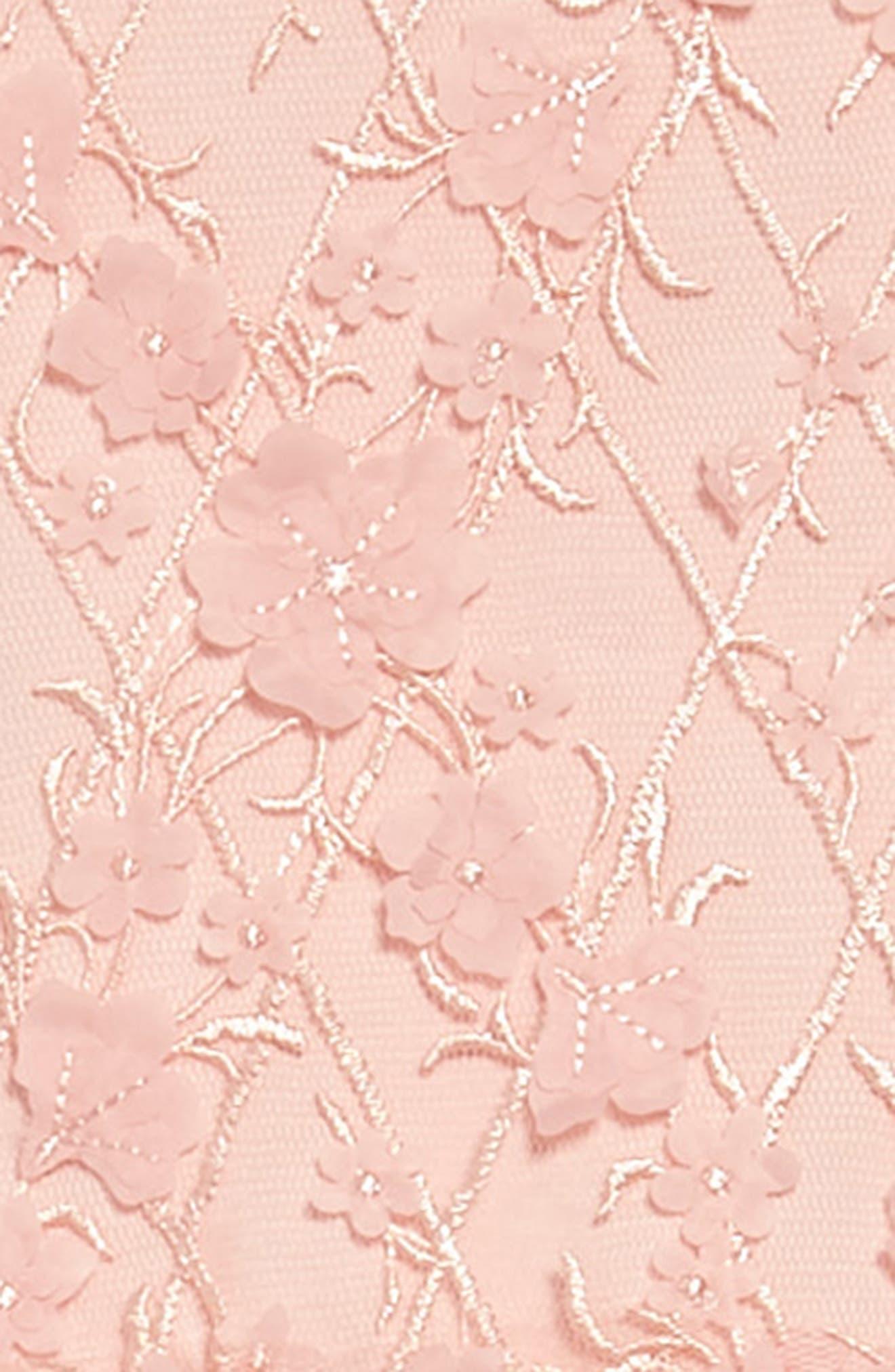 Cap Sleeve Lace Dress,                             Alternate thumbnail 3, color,                             Rose Quartz