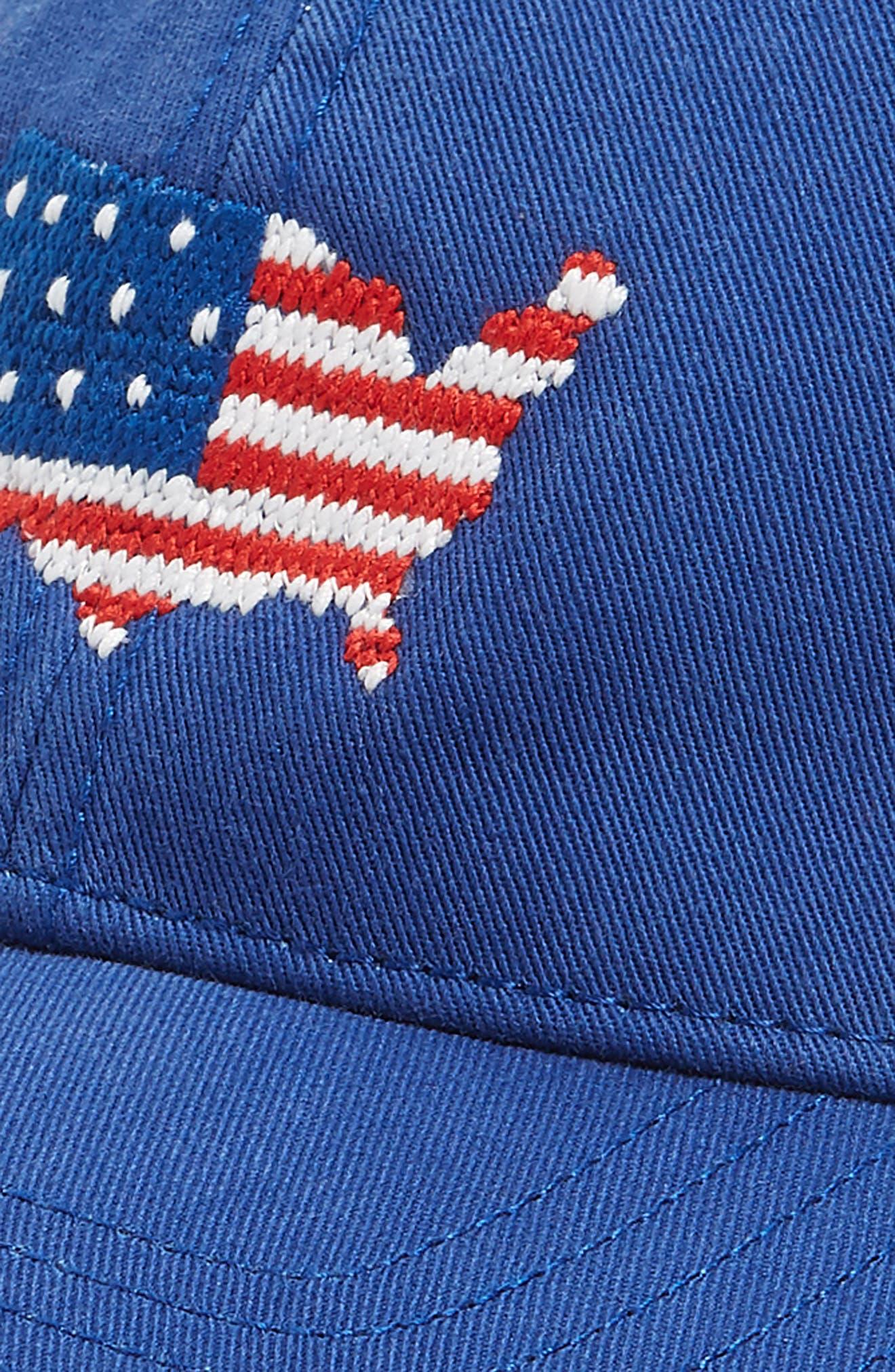USA Baseball Cap,                             Alternate thumbnail 3, color,                             Bright Navy