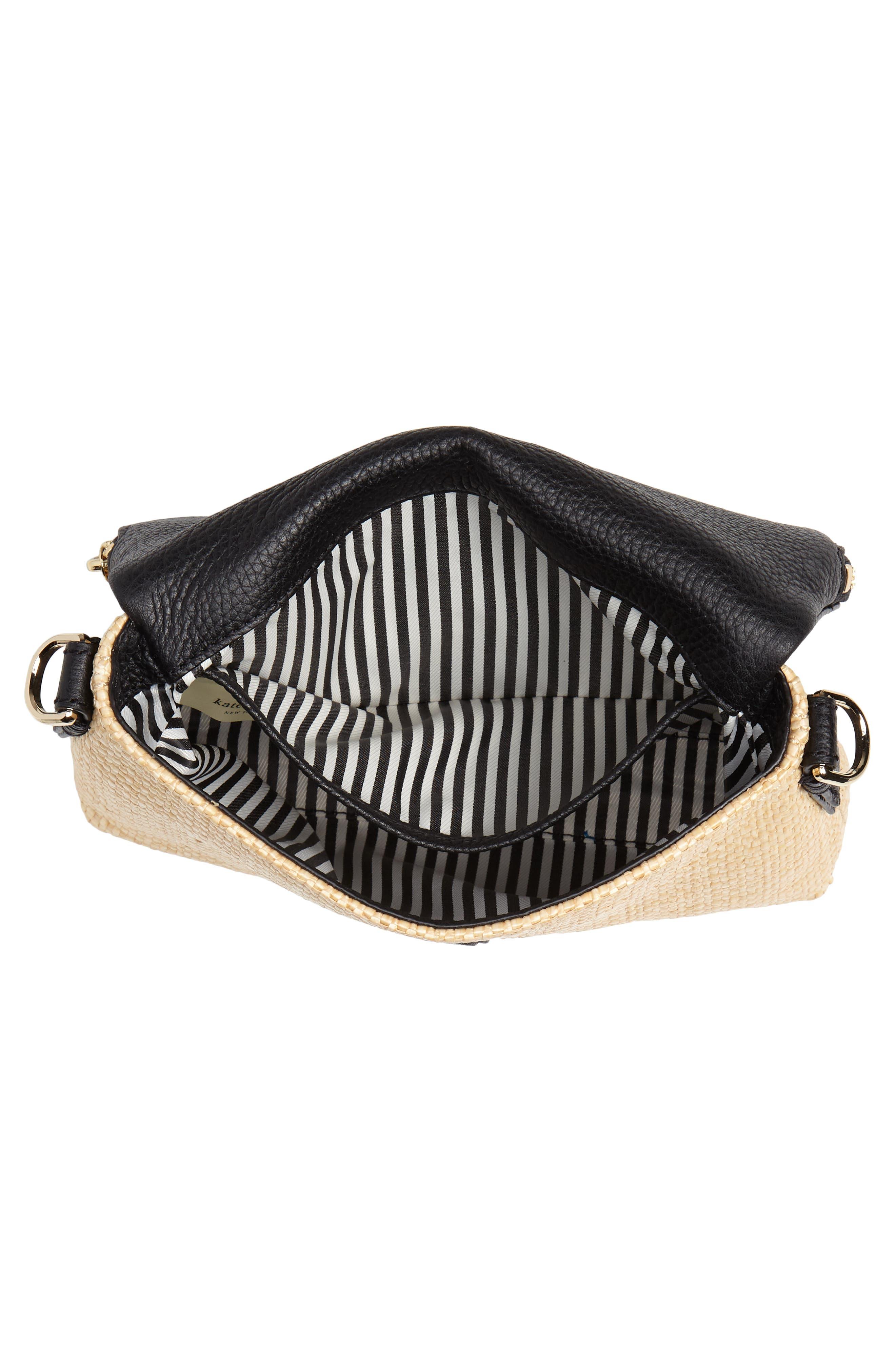 jackson street – harlyn straw & leather crossbody bag,                             Alternate thumbnail 6, color,                             Light Natural