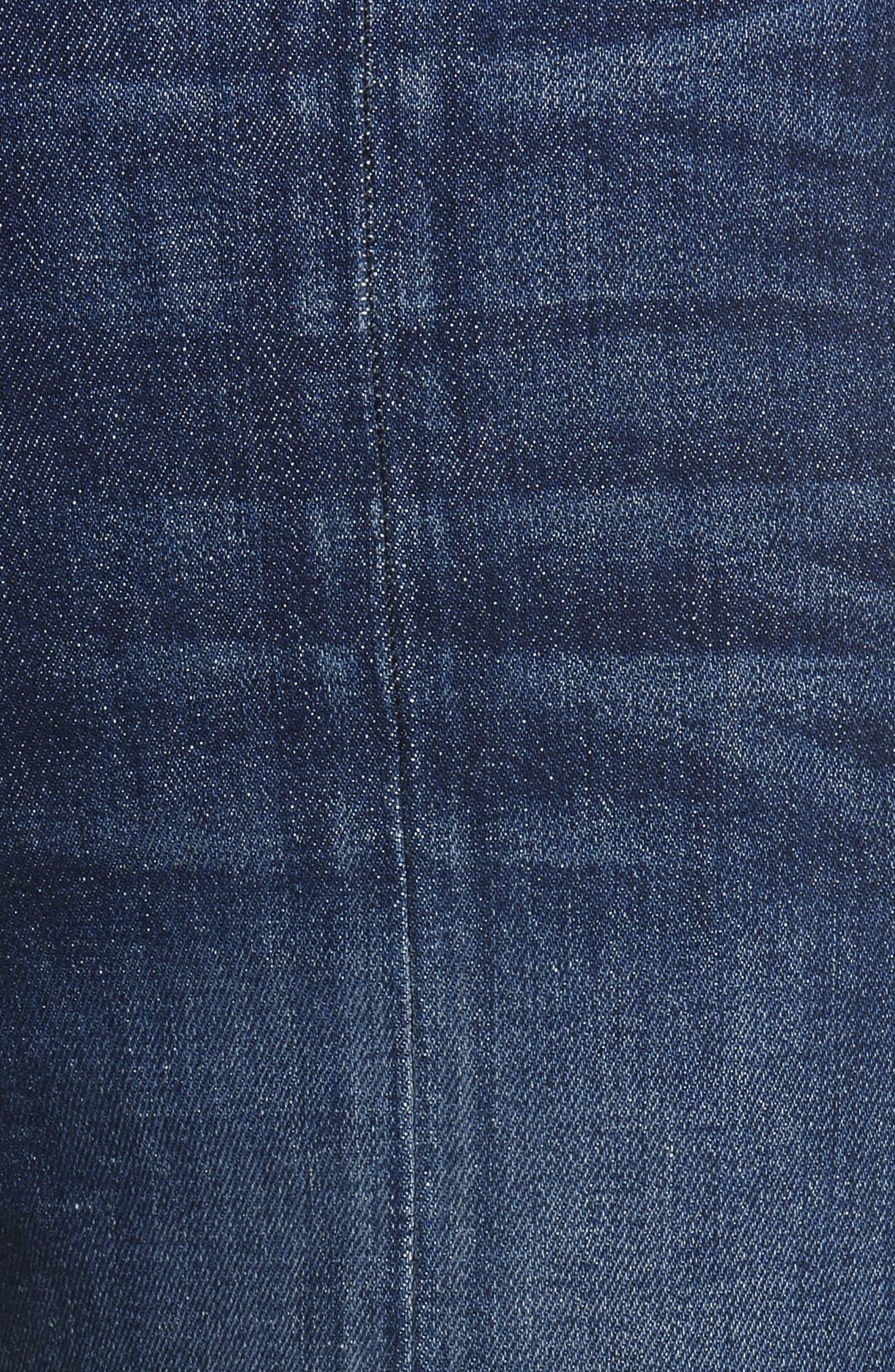 Good High Waist Front Slit Skinny Jeans,                             Alternate thumbnail 5, color,                             Good Times