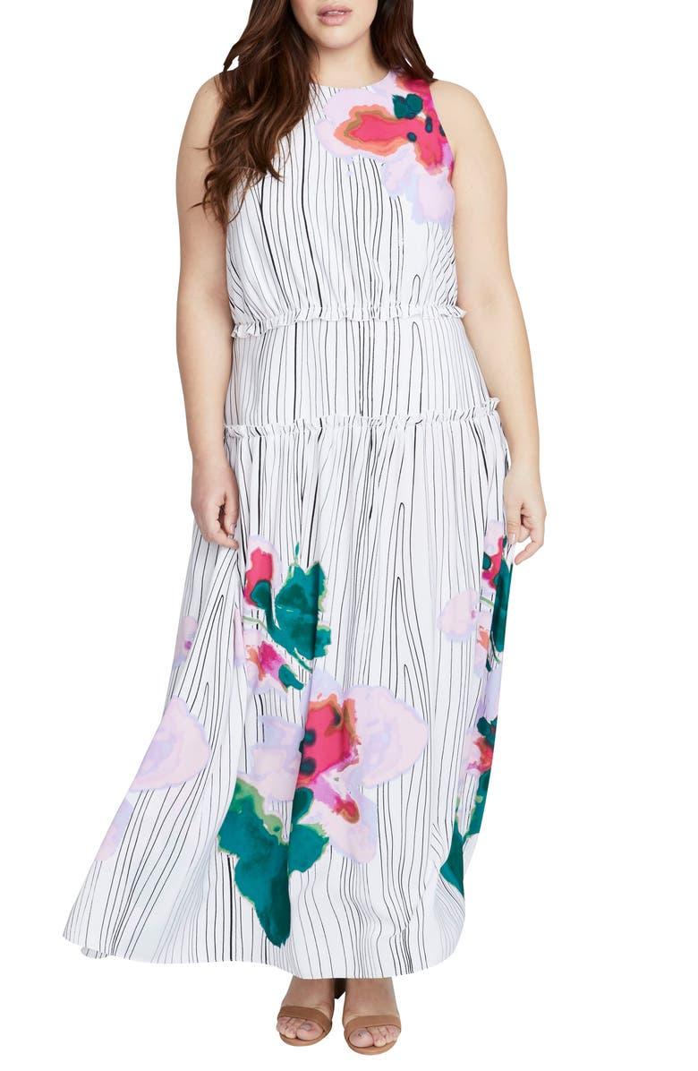 Amalfi Tie Neck Maxi Dress