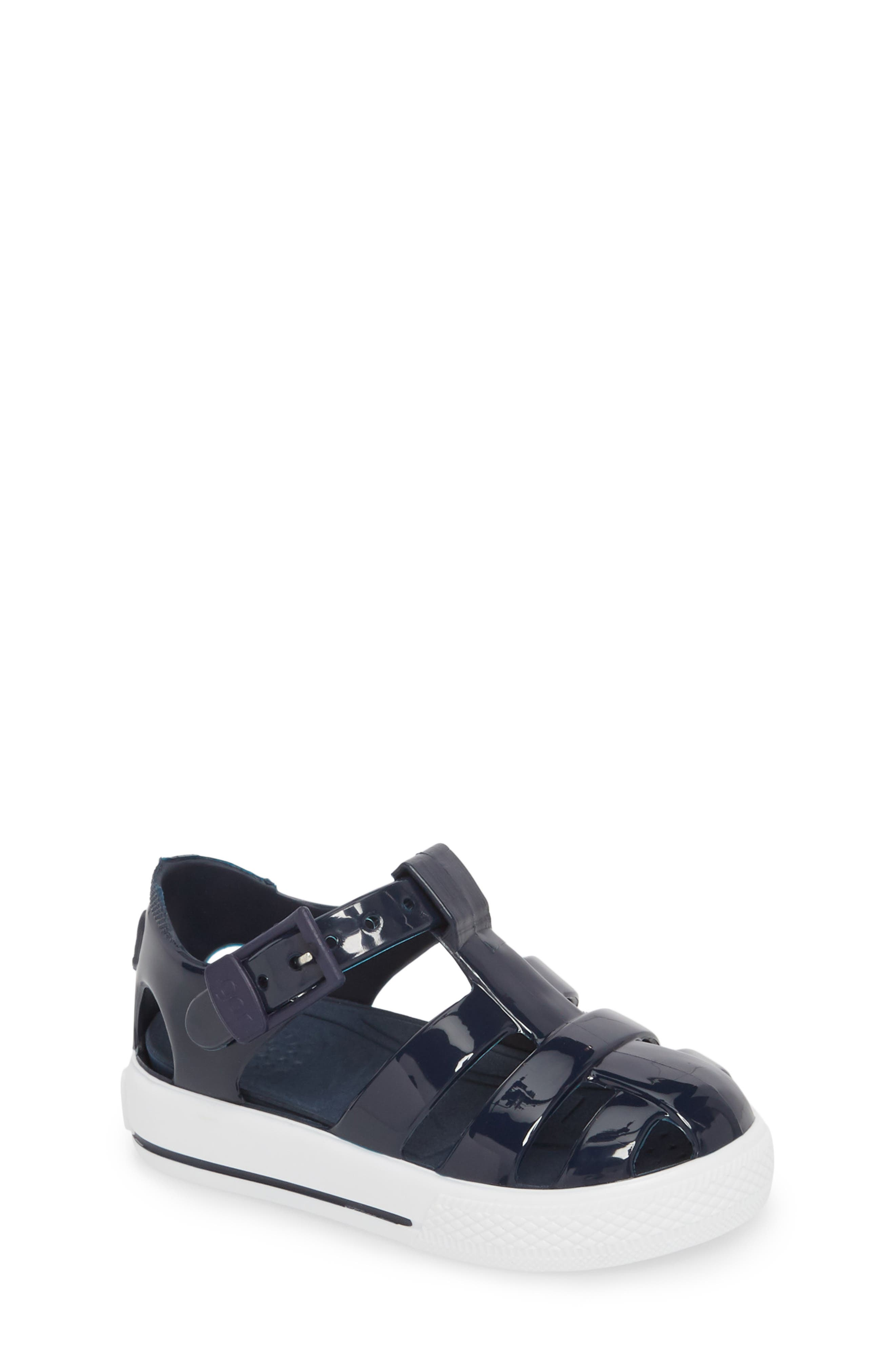 Tenis Fisherman Jelly Sandal,                             Main thumbnail 1, color,                             Navy