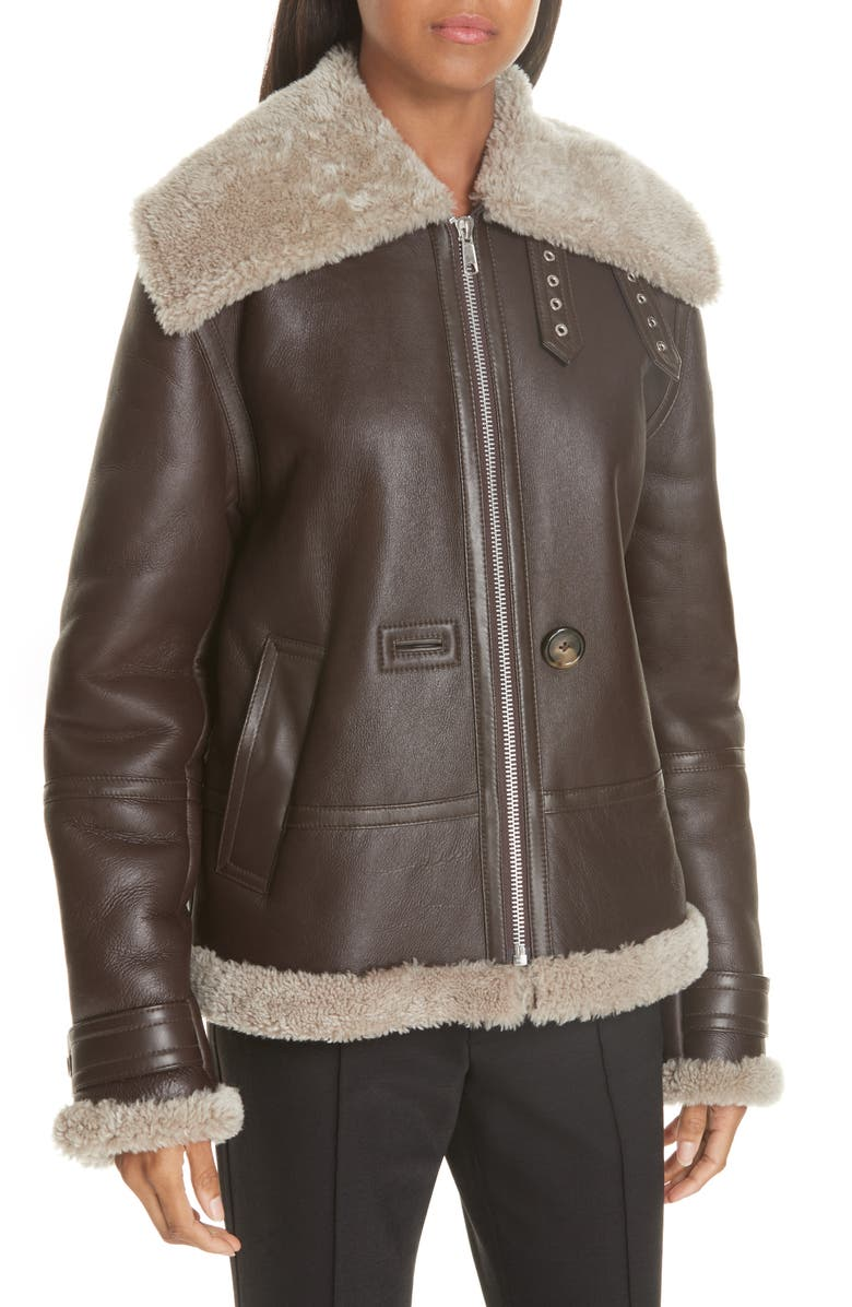 Genuine Shearling Aviator Jacket
