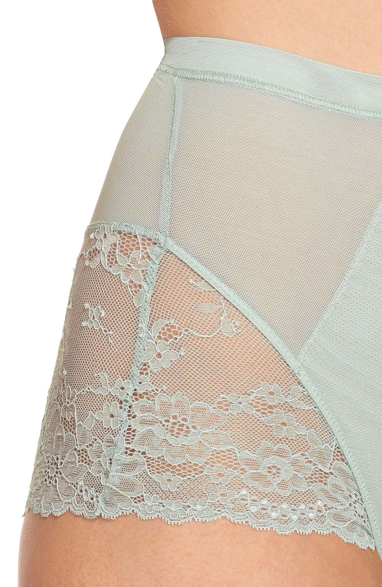 Spotlight On Lace Briefs,                             Alternate thumbnail 7, color,                             Seafoam Green