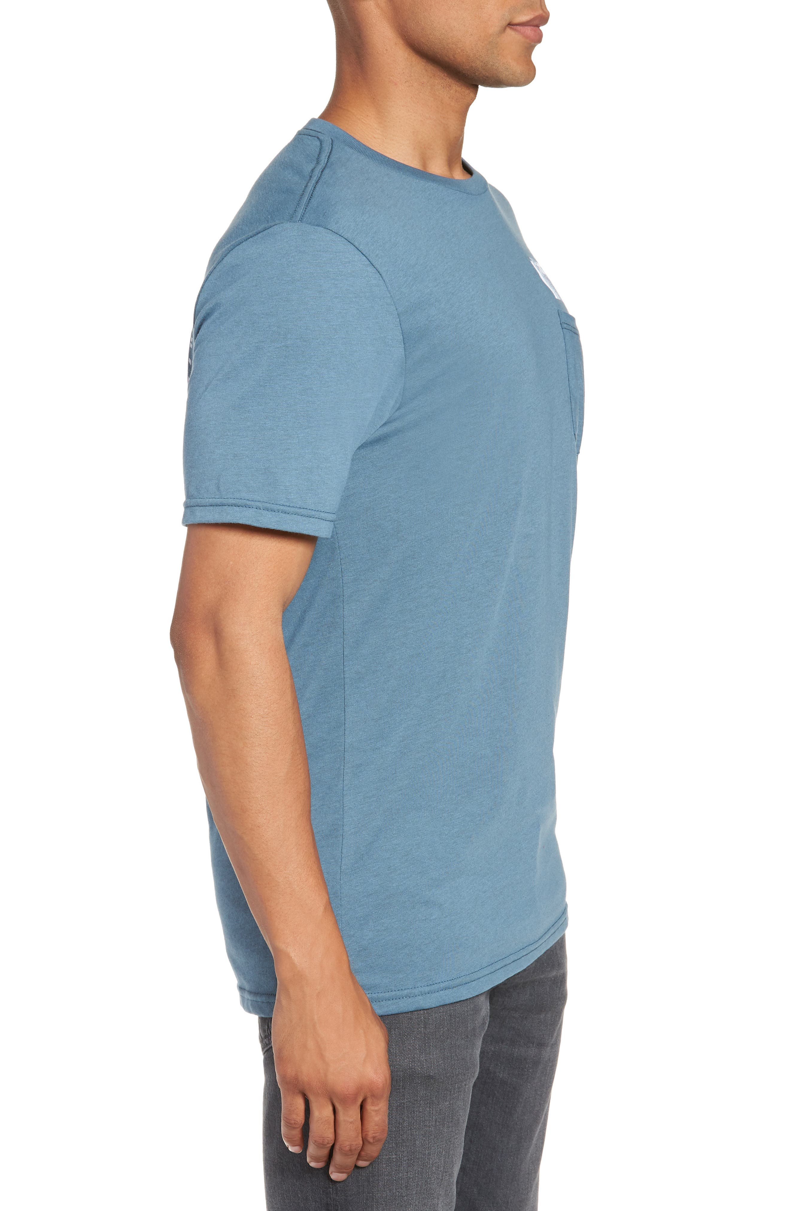 Bard Pocket Cotton Blend T-Shirt,                             Alternate thumbnail 5, color,                             Indigo
