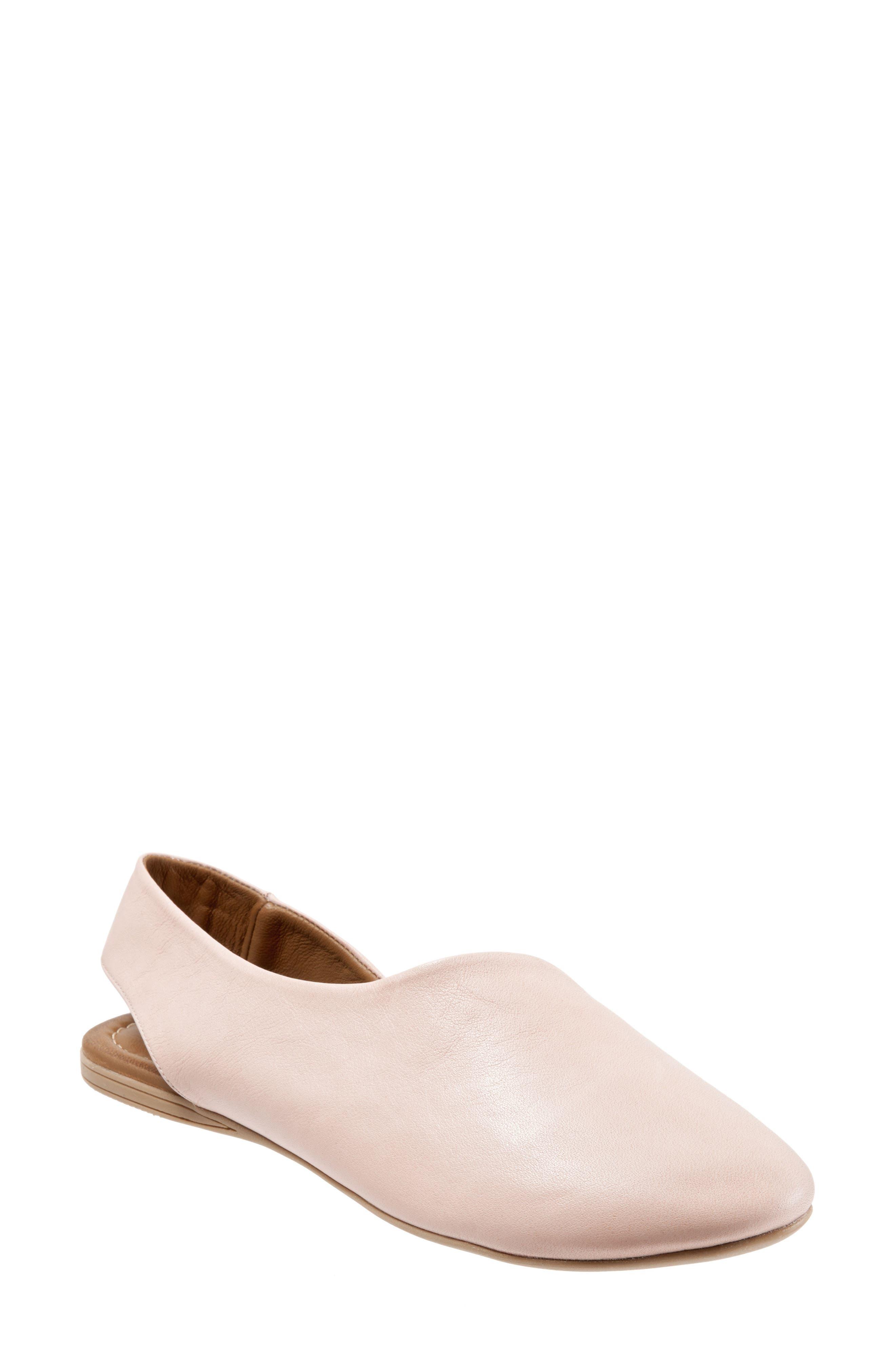 Keep Slingback Flat,                         Main,                         color, Pale Pink Leather