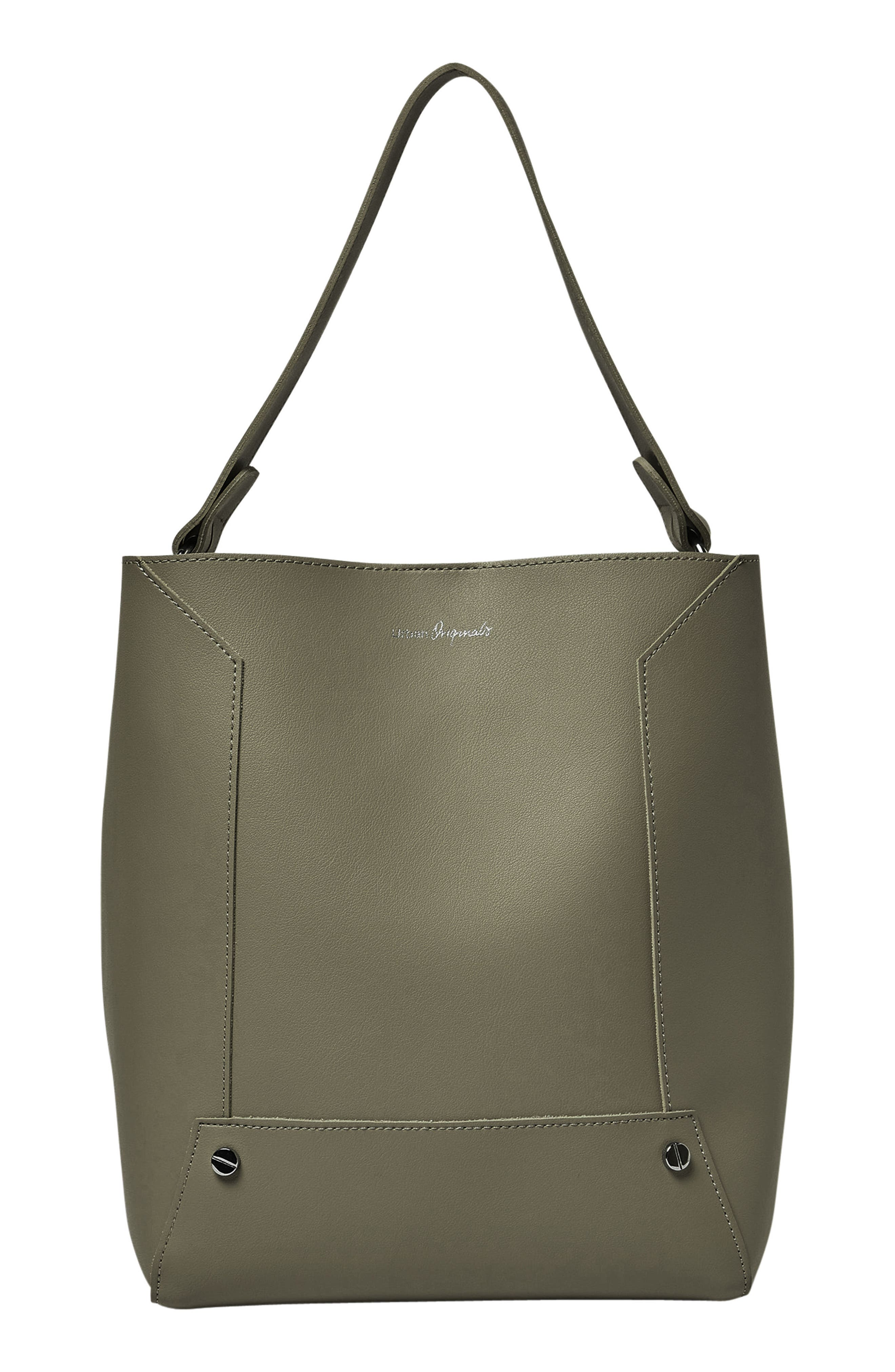 Day Dream Vegan Leather Hobo,                         Main,                         color, Army Green
