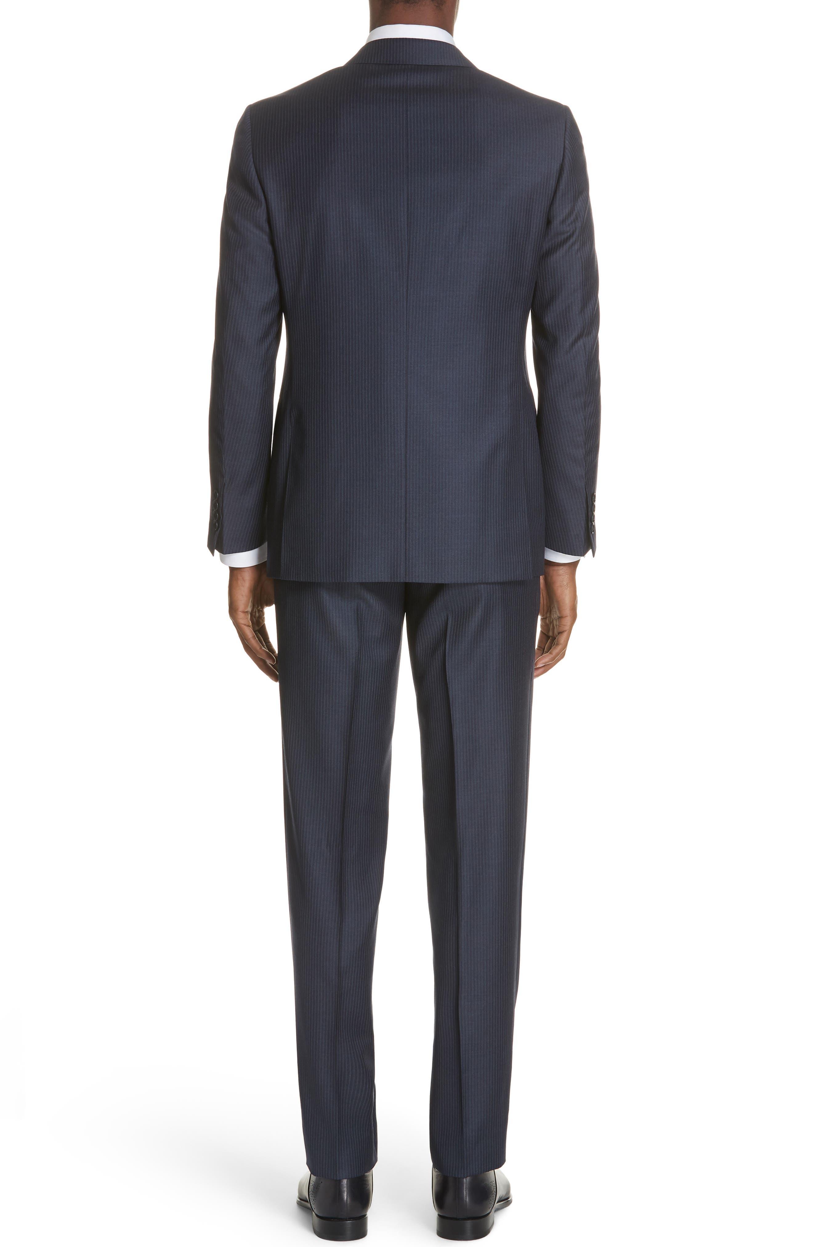 Siena Classic Fit Stripe Wool Suit,                             Alternate thumbnail 2, color,                             Blue