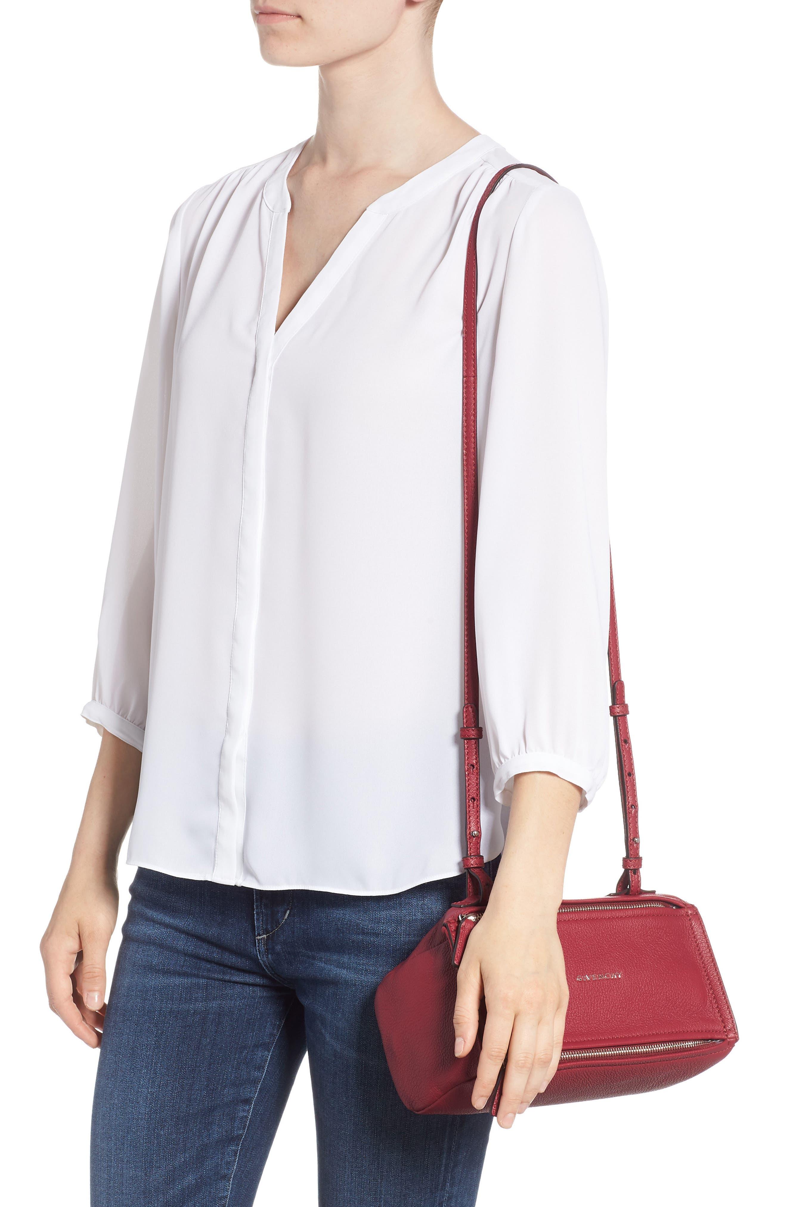 'Mini Pandora' Sugar Leather Shoulder Bag,                             Alternate thumbnail 2, color,                             Fig Pink