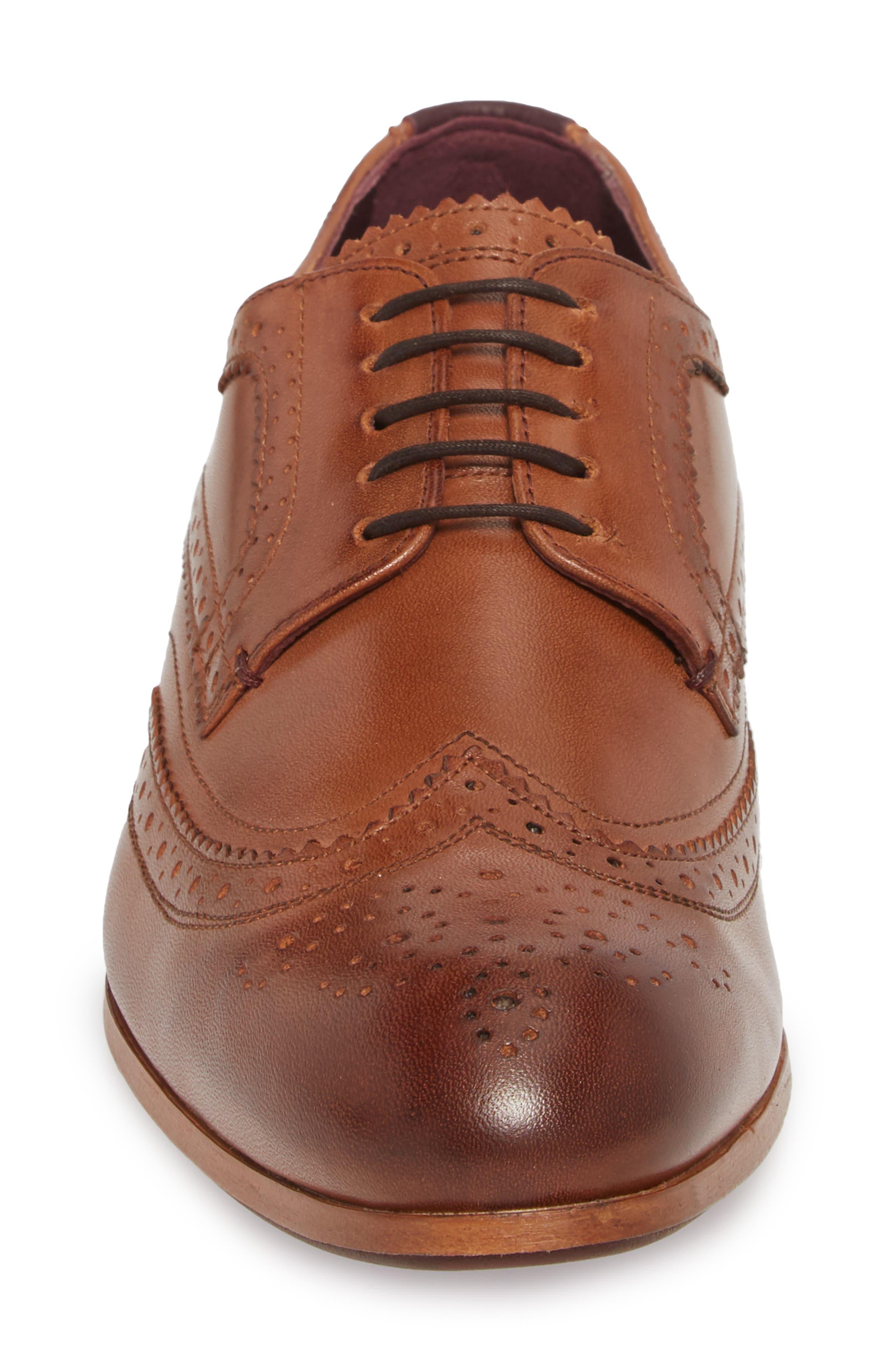 Camyli Wingtip,                             Alternate thumbnail 6, color,                             Tan Leather