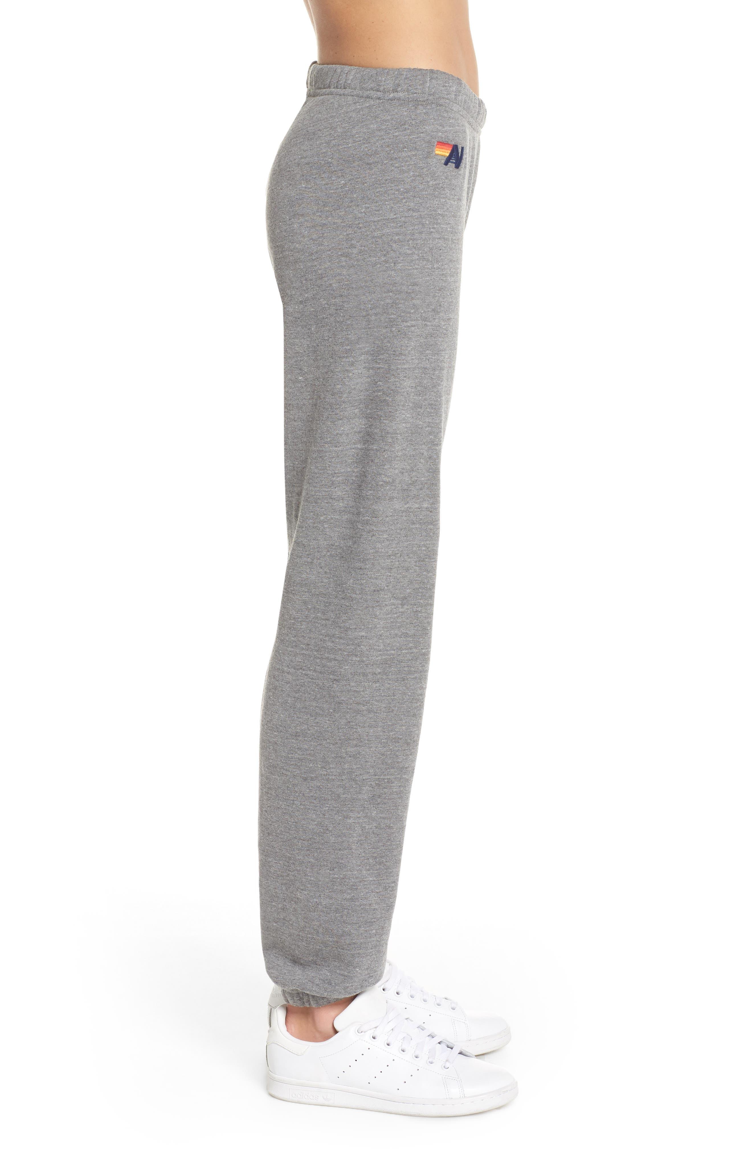 Stripe Sweatpants,                             Alternate thumbnail 3, color,                             Heather Grey/ Blue Stripes