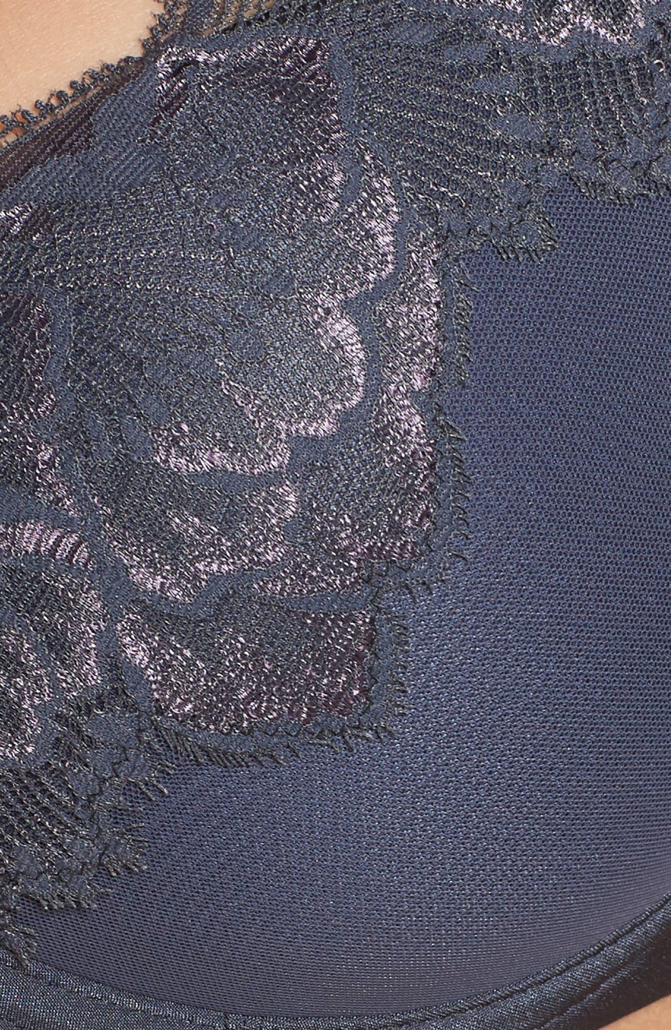 Orangerie Lace Underwire Plunge Bra,                             Alternate thumbnail 5, color,                             Mist Grey