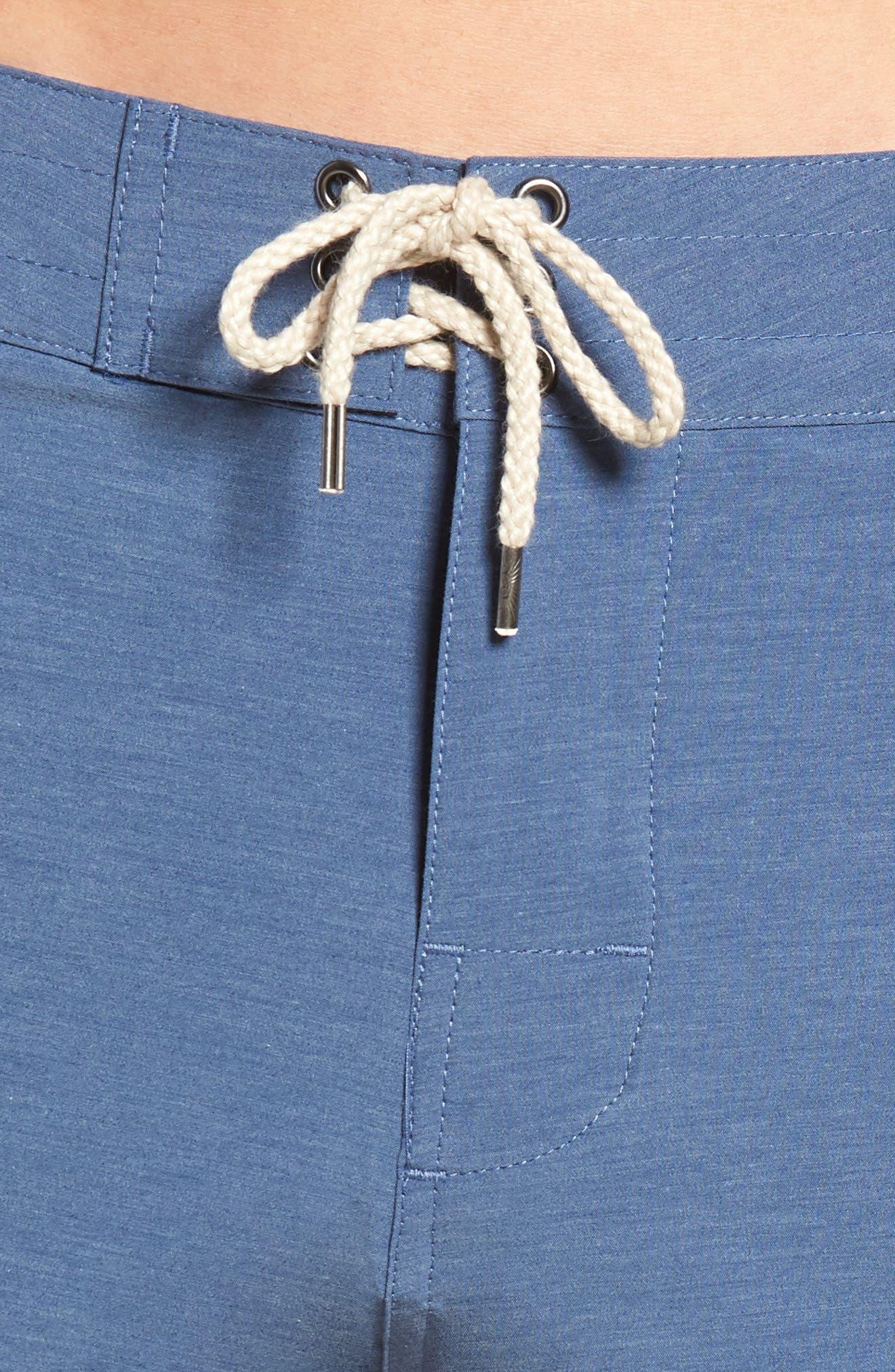 Retro Surf Stripe Board Shorts,                             Alternate thumbnail 3, color,                             Blue Red White