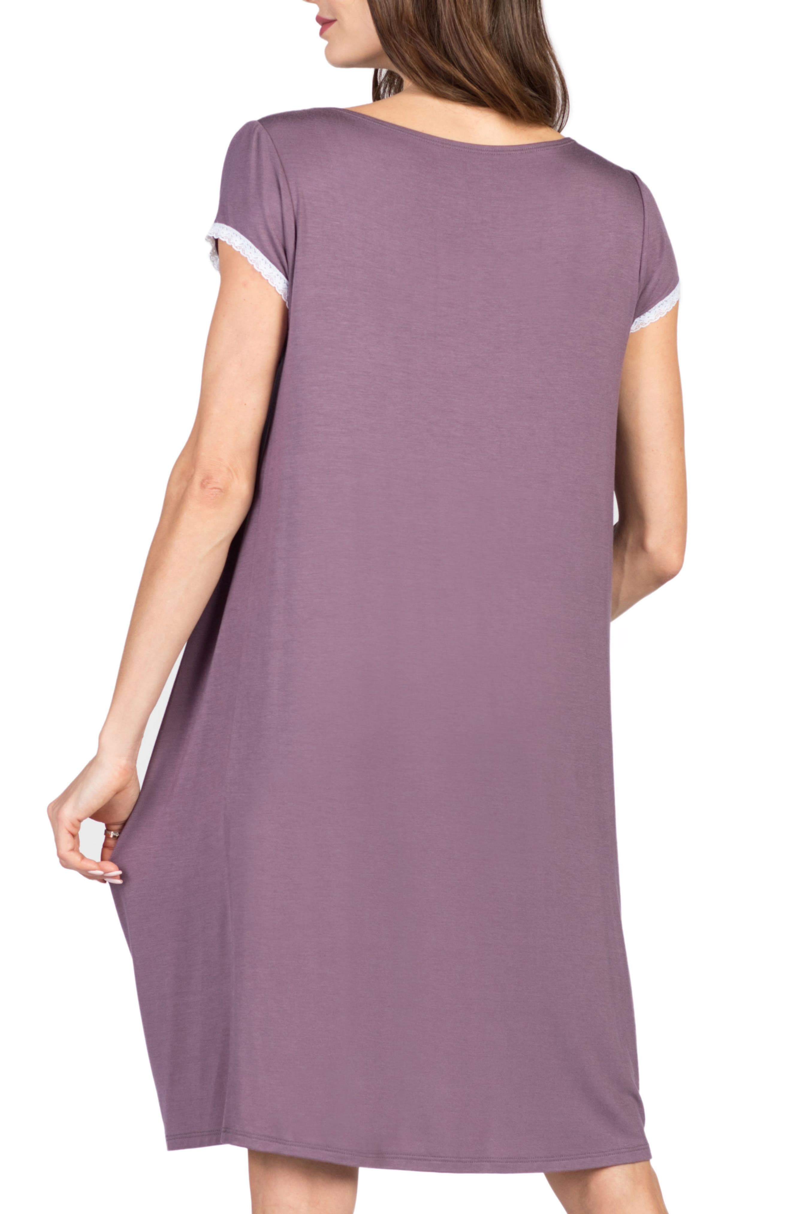 Joliet Maternity/Nursing Nightgown,                             Alternate thumbnail 2, color,                             Lilac