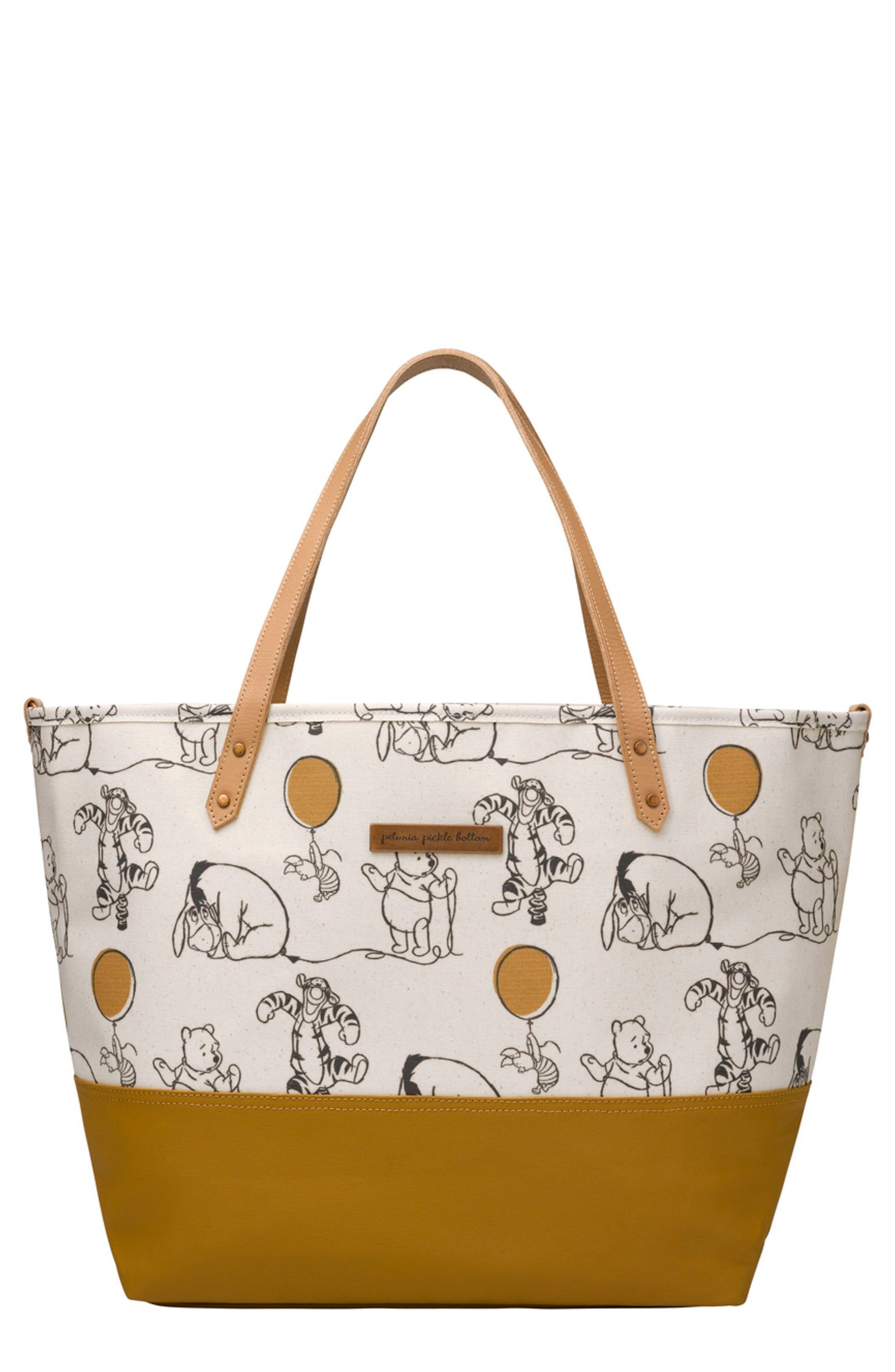 Downtown Disney<sup>®</sup> Mickey Mouse<sup>®</sup> Print Diaper Tote,                             Main thumbnail 1, color,                             Winnie The Pooh And Friends