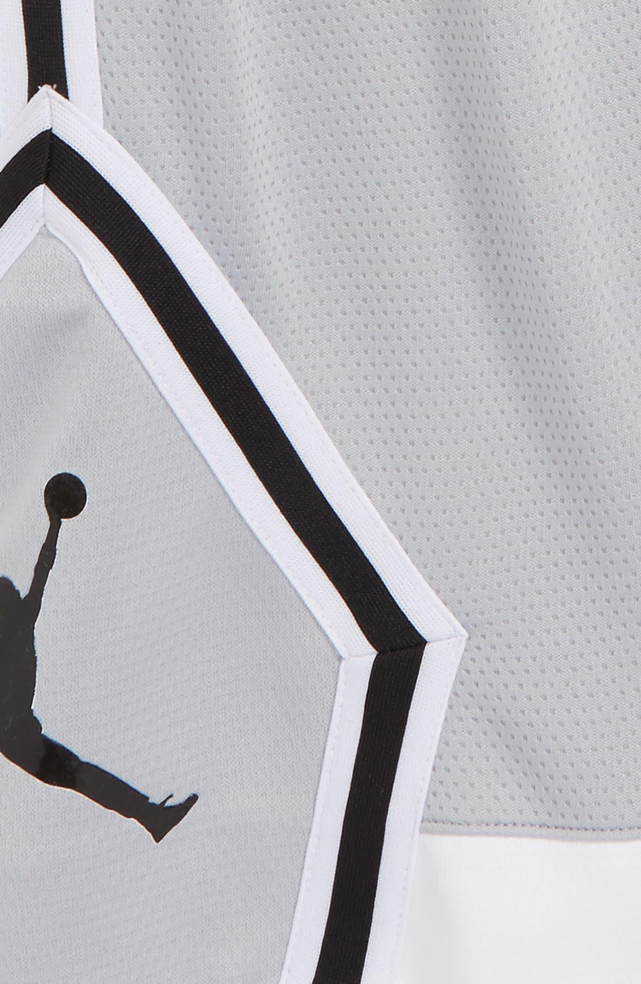 Jordan Rise Diamond Dri-FIT Basketball Shorts,                             Alternate thumbnail 2, color,                             Wolf Grey