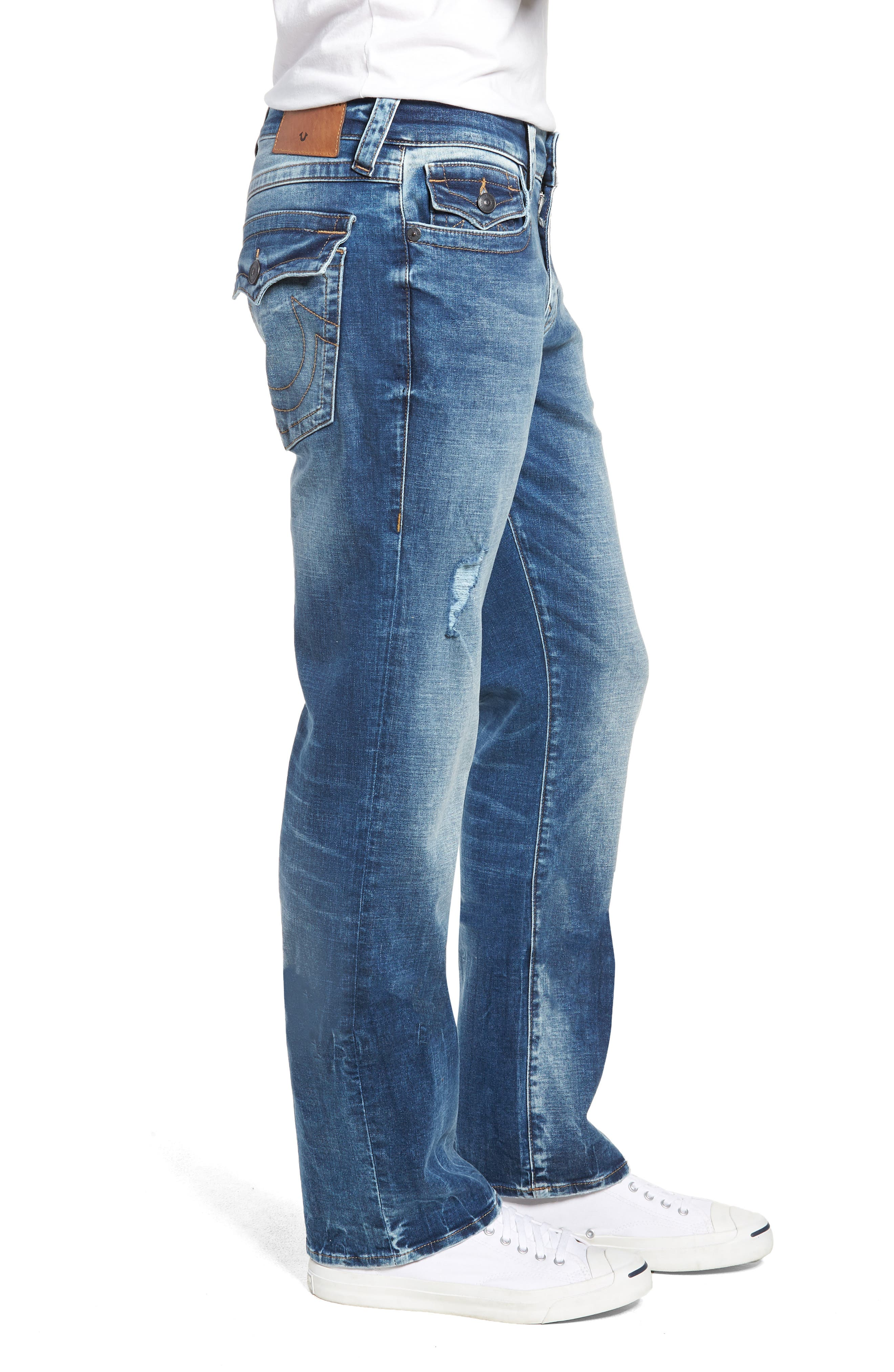 Ricky Relaxed Fit Jeans,                             Alternate thumbnail 4, color,                             Static Blue
