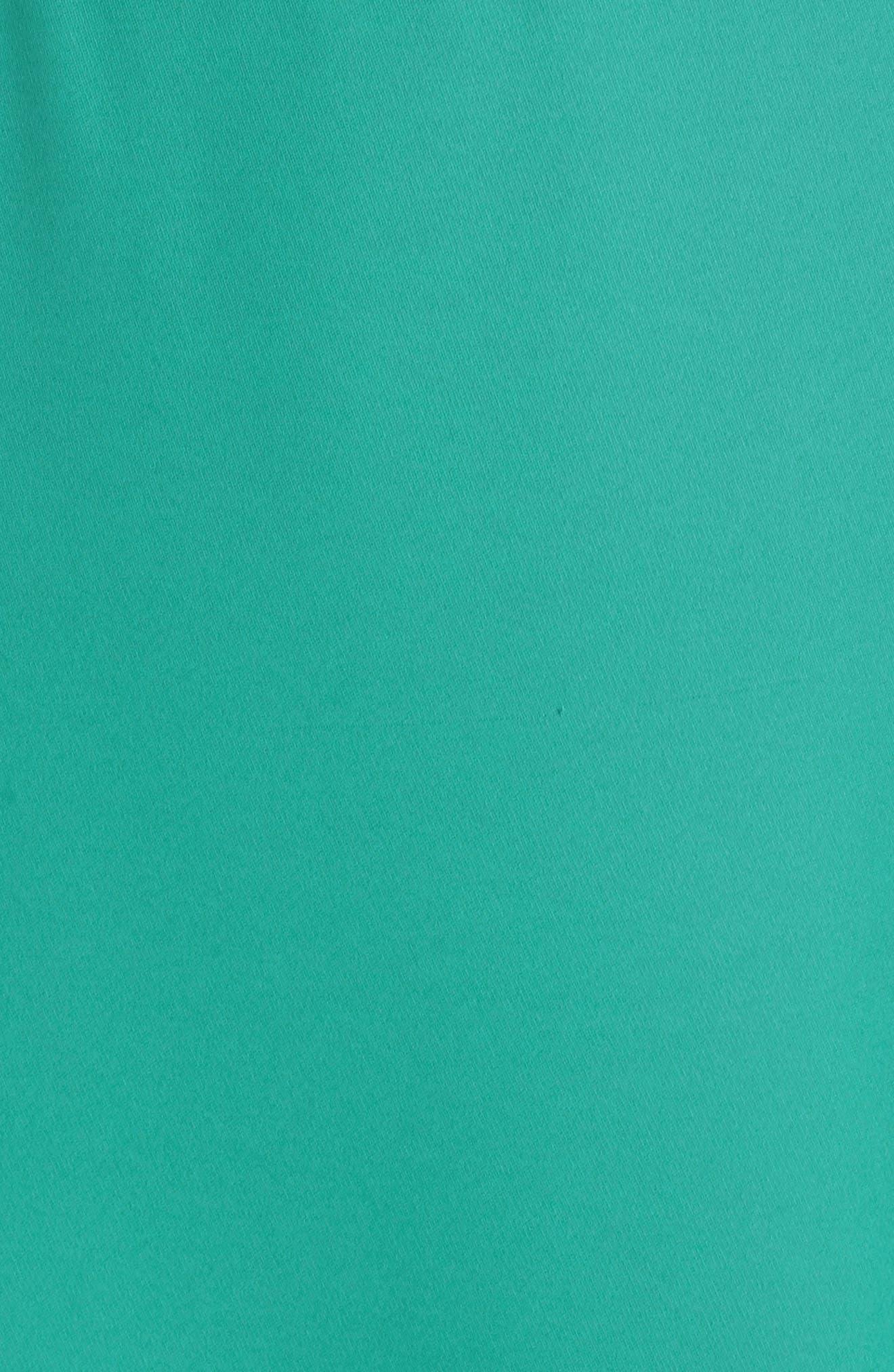 Crepe Skater Dress,                             Alternate thumbnail 6, color,                             Aquamarine