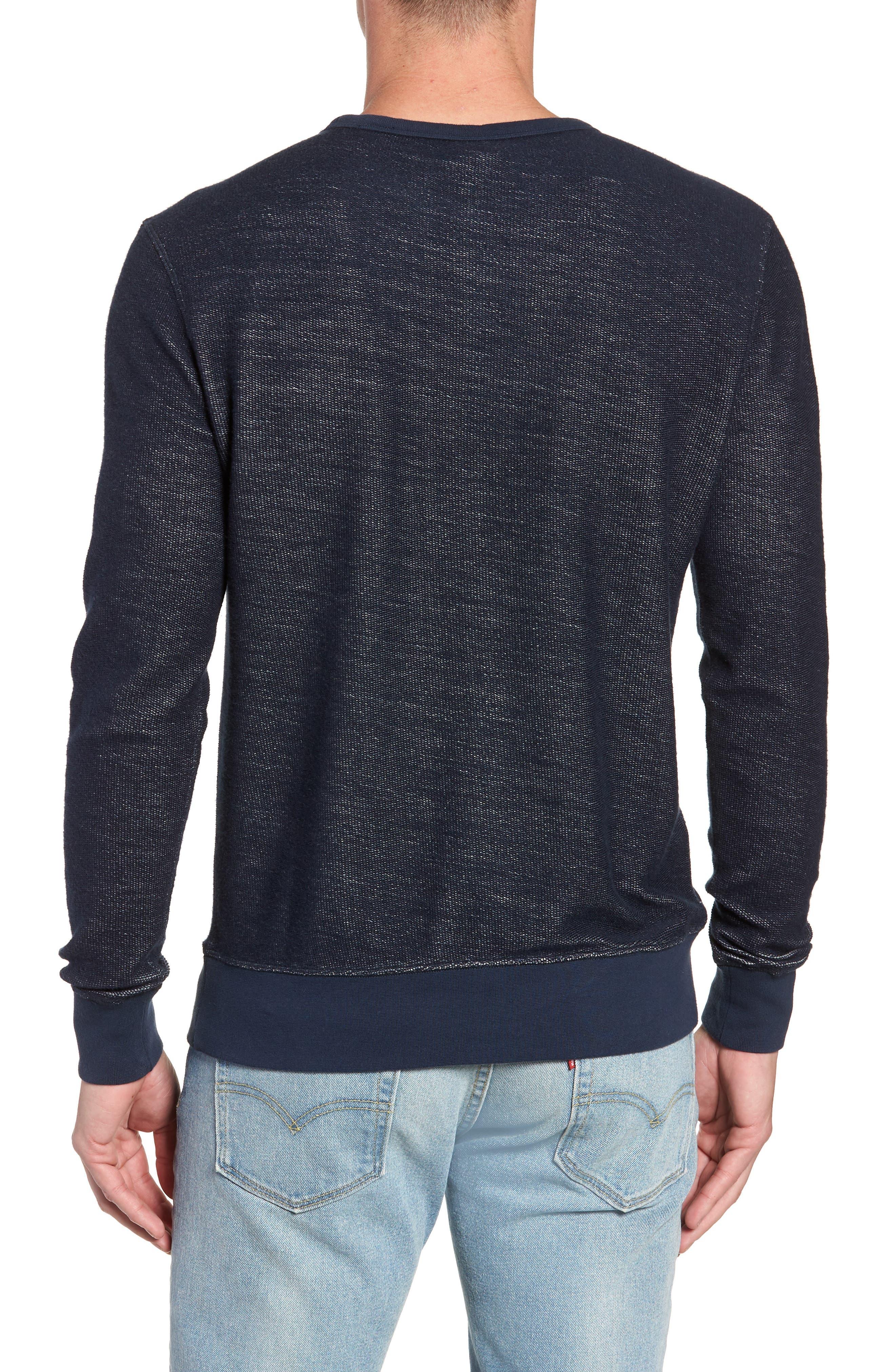Reversible Colorblock Terry Sweatshirt,                             Alternate thumbnail 2, color,                             Navy / Grey