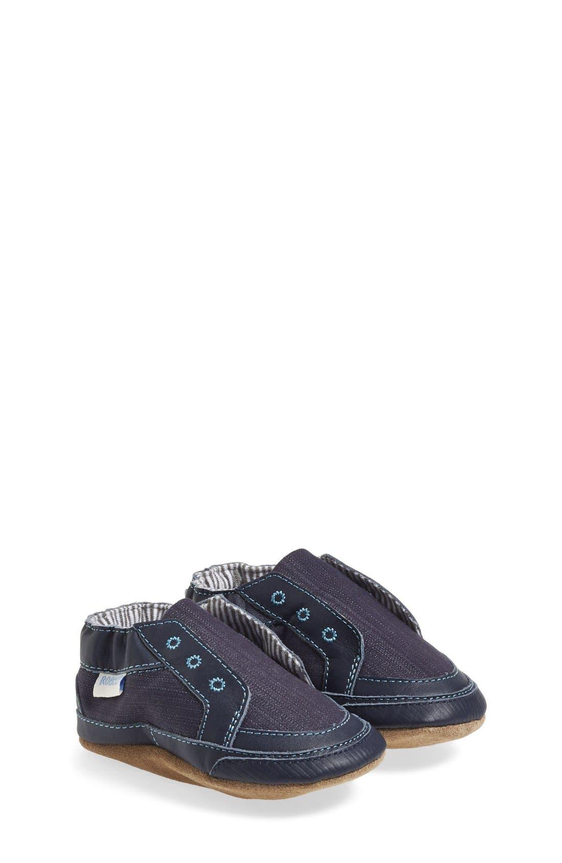Robeez® 'Stylish Steve' Crib Shoe (Baby & Walker)