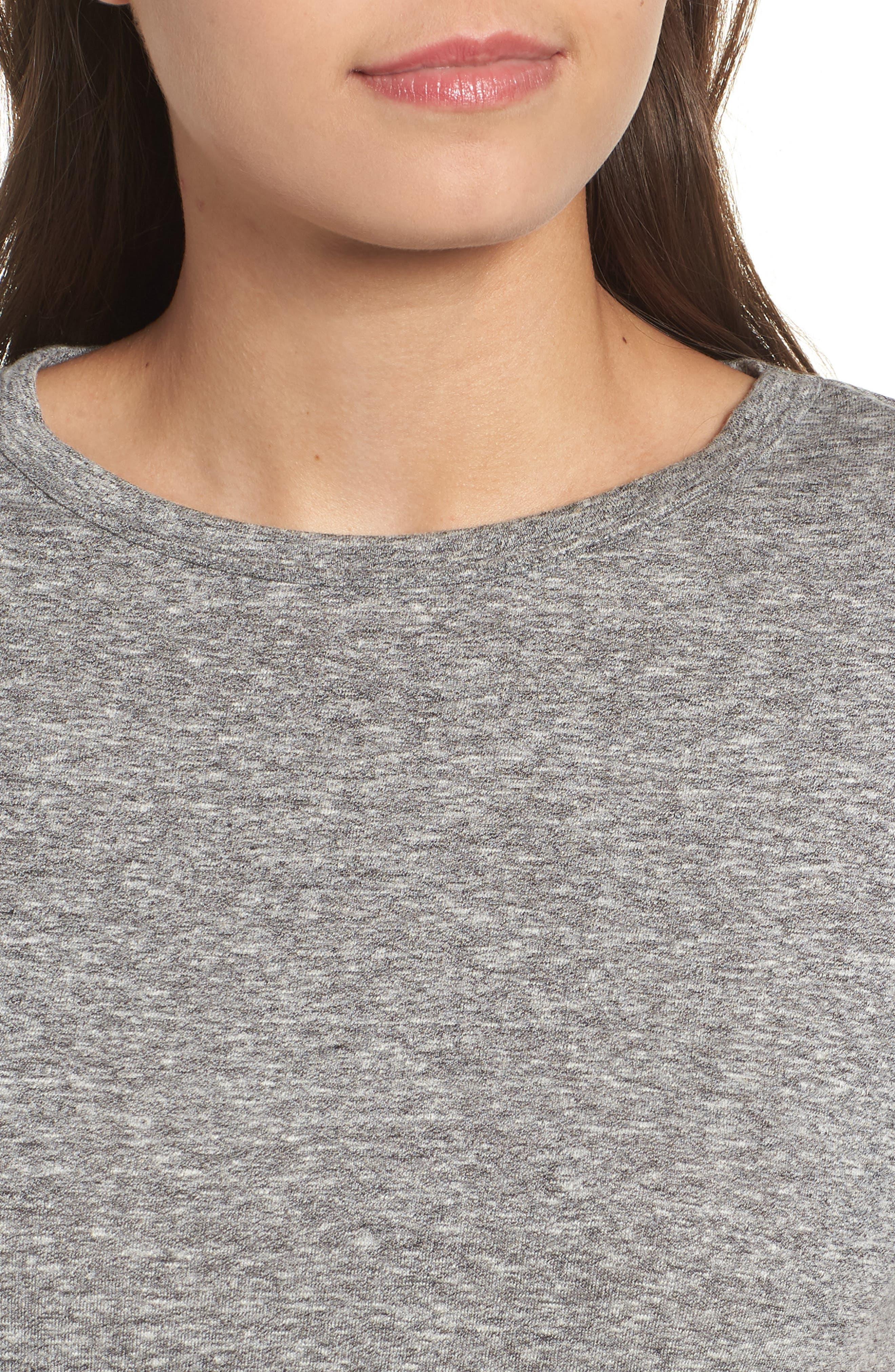 Short Sleeve Marl T-Shirt,                             Alternate thumbnail 4, color,                             Grey Marl