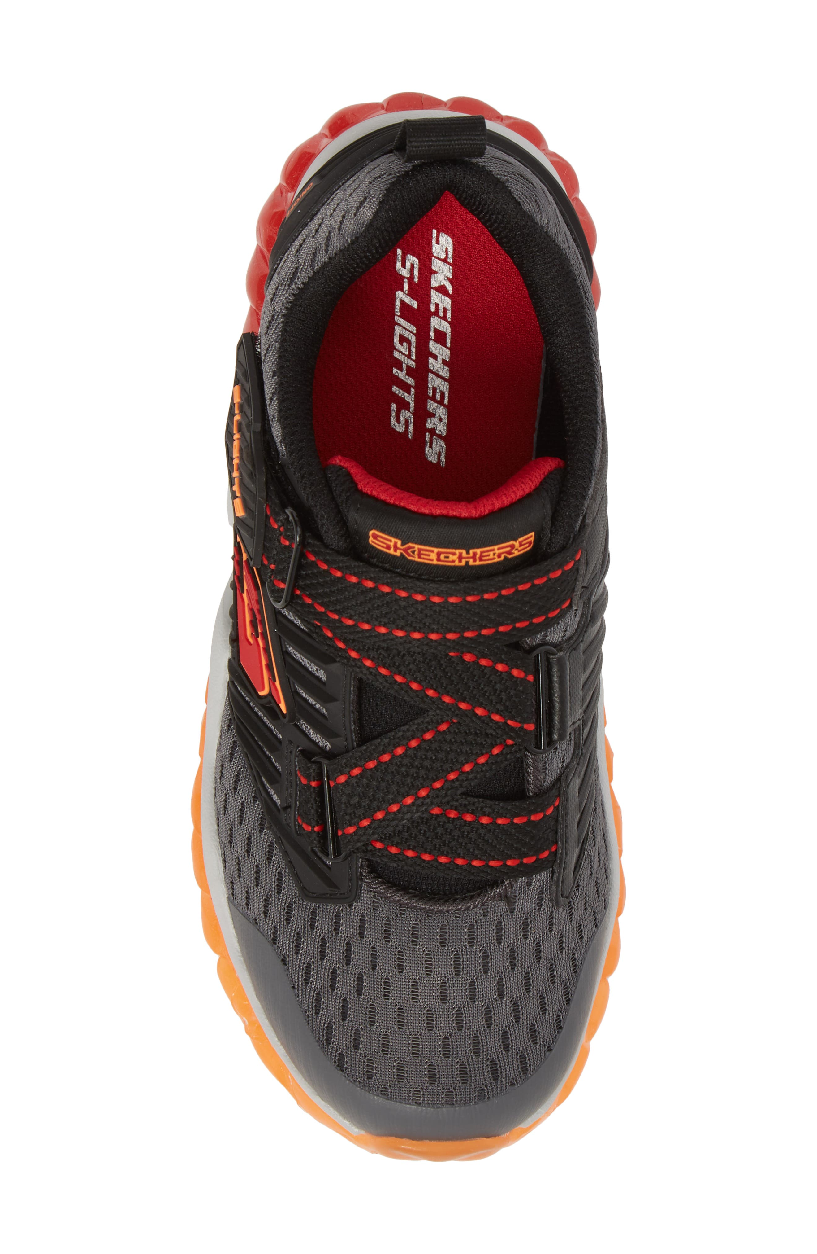Rapid Flash Light-Up Sneaker,                             Alternate thumbnail 6, color,                             Charcoal/ Red