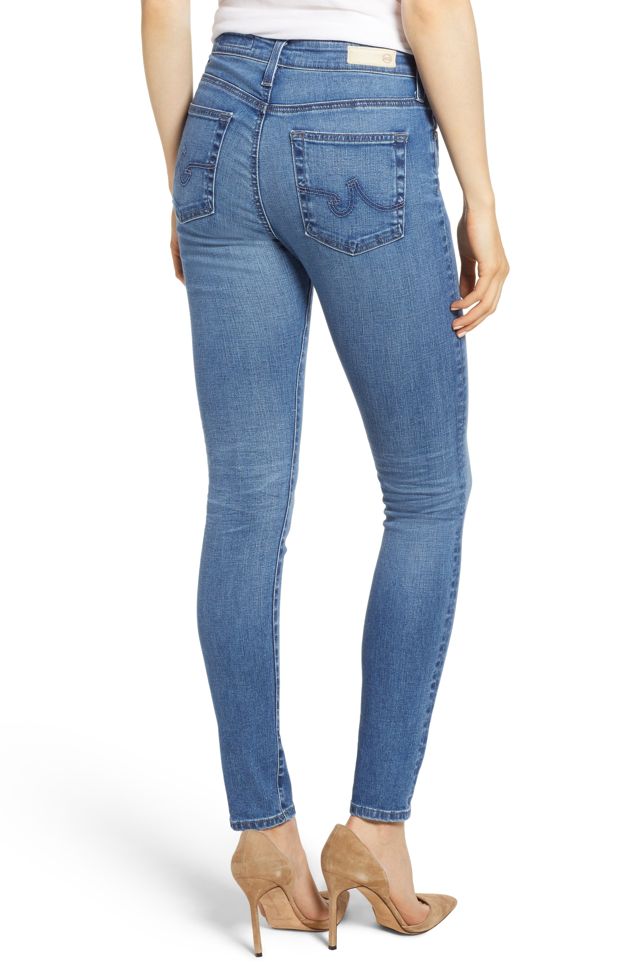 'The Farrah' High Rise Skinny Jeans,                             Alternate thumbnail 2, color,                             15 Years Chronic