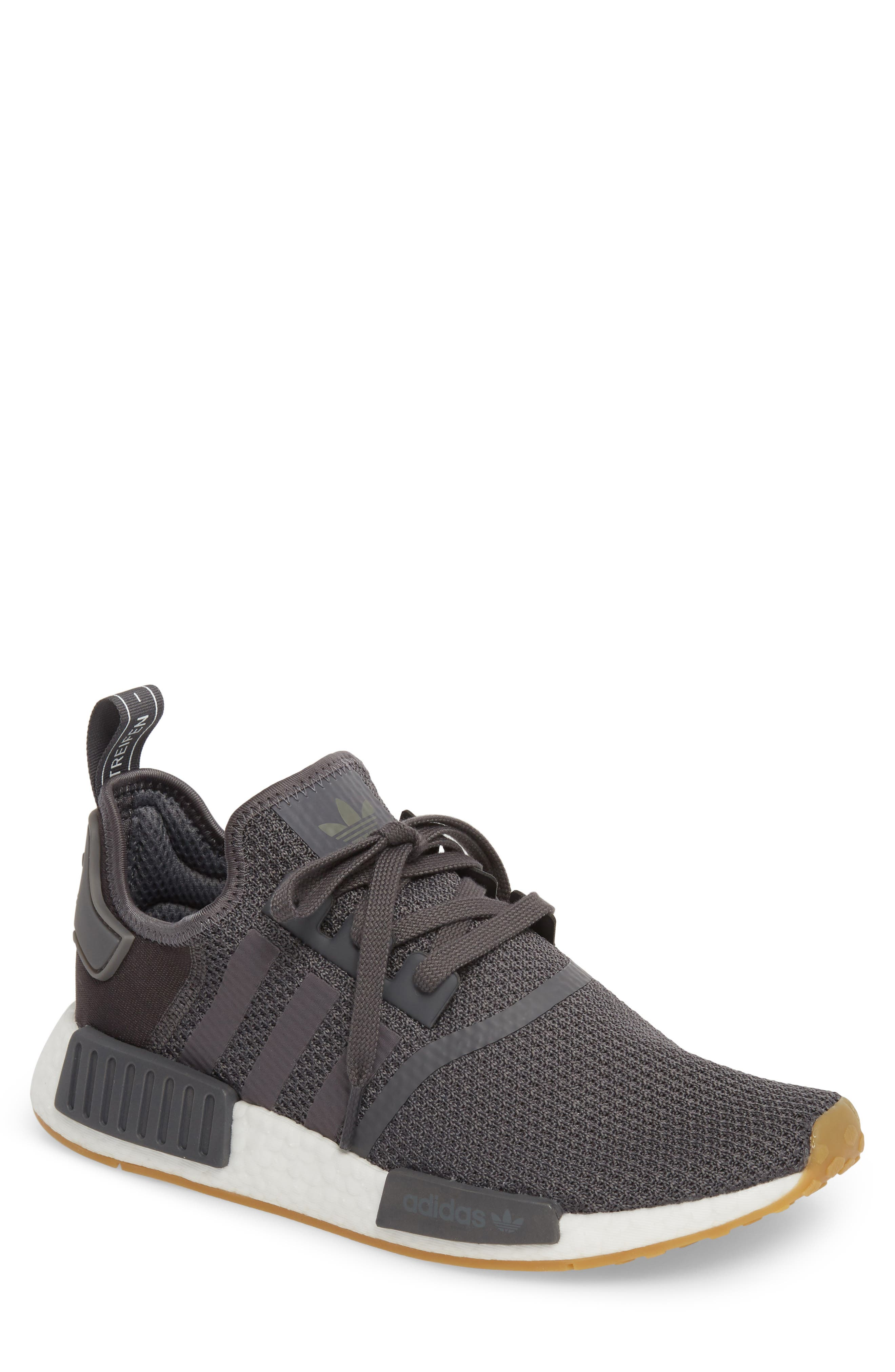 Originals NMD R1 Sneaker,                         Main,                         color, Grey/ Black