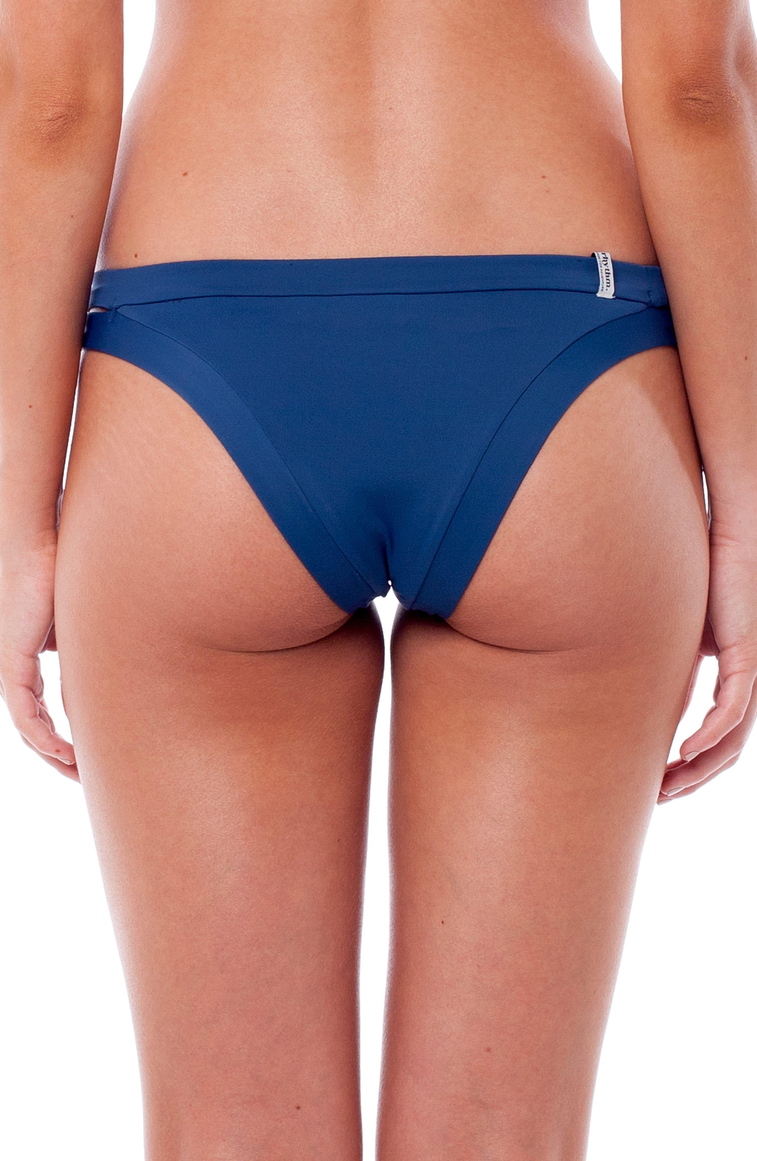Sunchaser Bikini Bottoms,                             Alternate thumbnail 2, color,                             Navy
