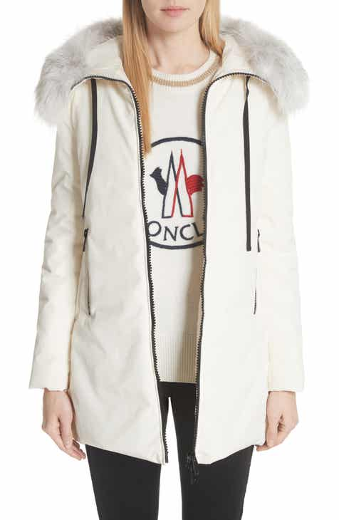 f0429293f6a38 Moncler Bartramifur Hooded Down Coat with Removable Genuine Fox Fur Trim
