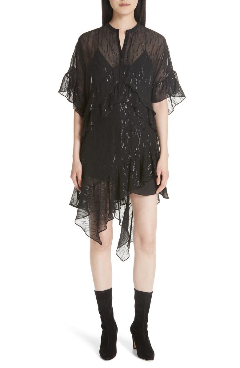 Revolve Metallic Fil Coup? Silk Blend Dress